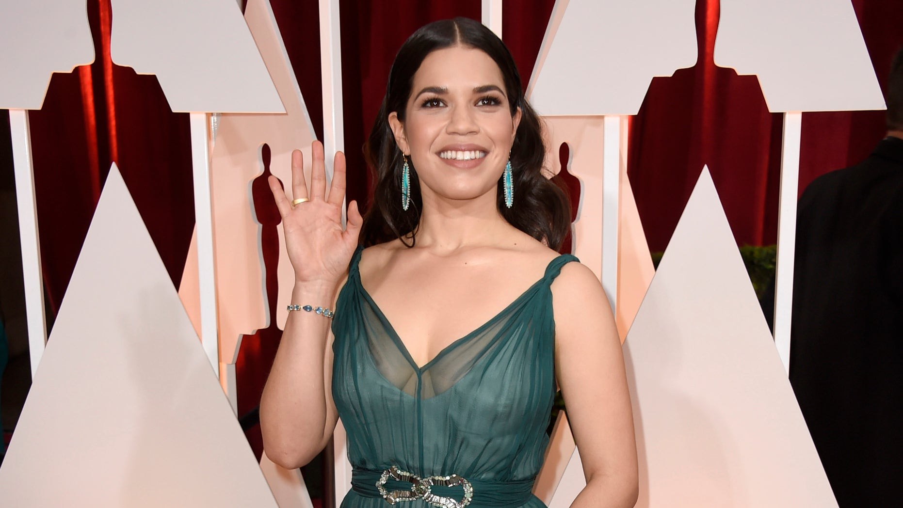 HOLLYWOOD, CA - FEBRUARY 22:  Actress America Ferrera attends the 87th Annual Academy Awards at Hollywood & Highland Center on February 22, 2015 in Hollywood, California.  (Photo by Frazer Harrison/Getty Images)