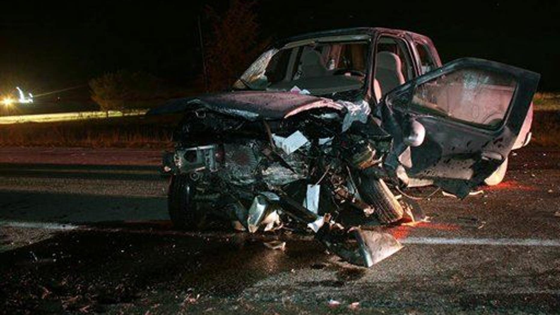 The scene of a drunk driving crash.