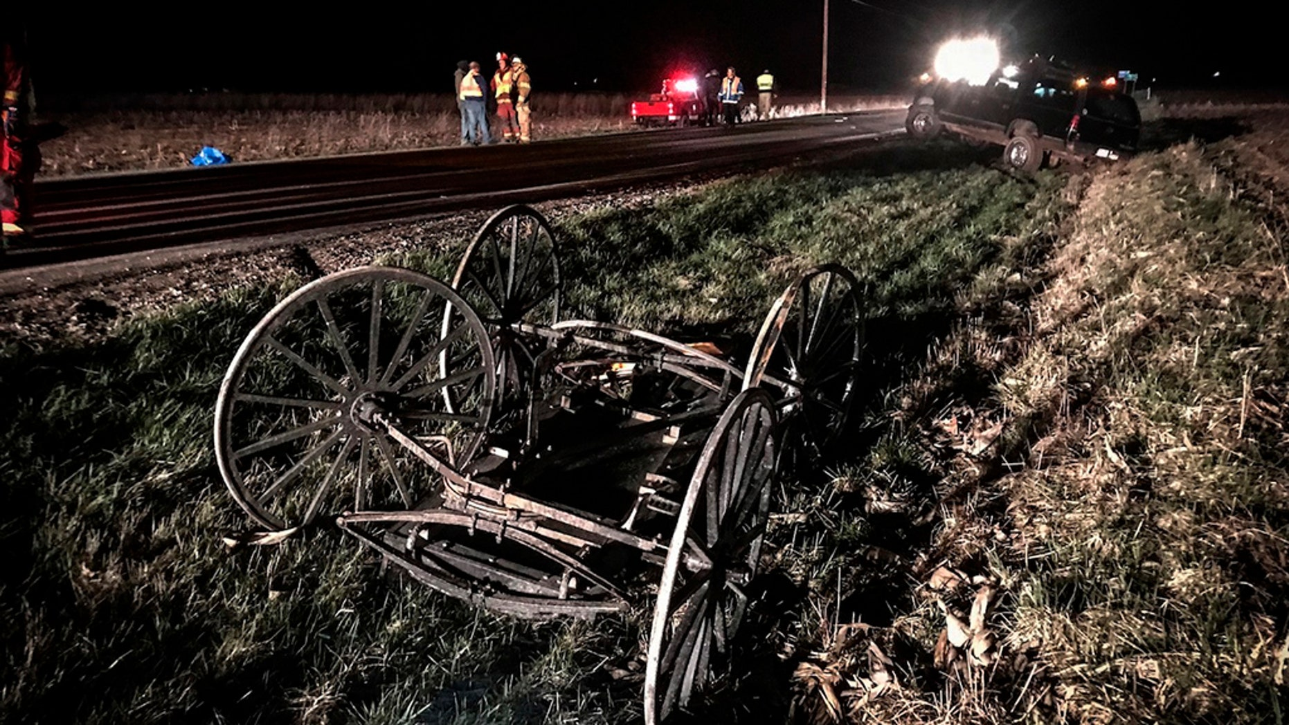 The Amish buggy crash on Friday in Ohio, which left a woman dead and three others in her family injured.