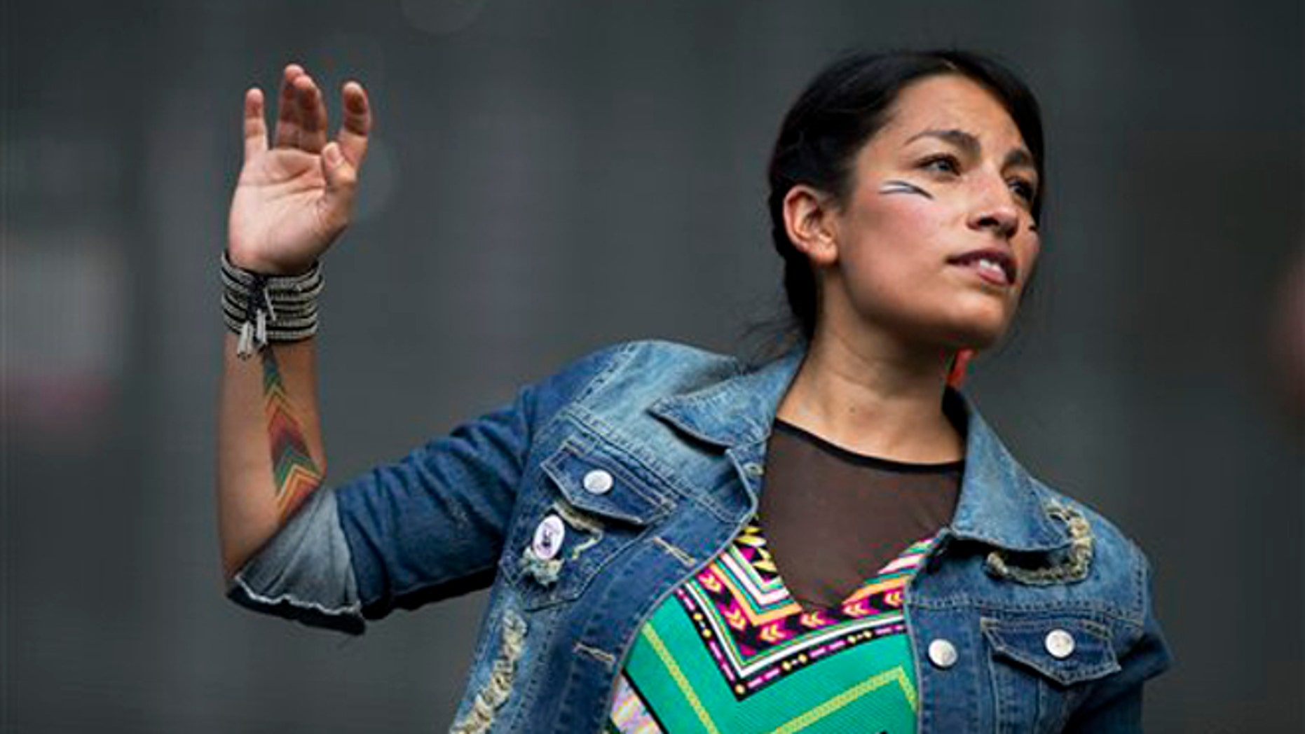 Ana Tijoux at the Vive Latino music festival in Mexico City, on March 28, 2014.