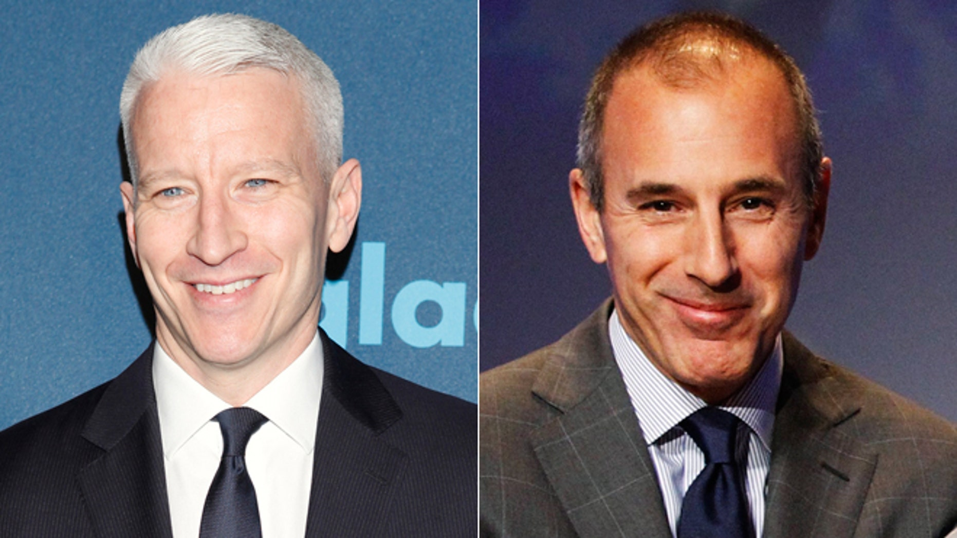 """Anderson Cooper, left, could replace Matt Lauer, right, on the """"Today"""" show, reports are claiming."""