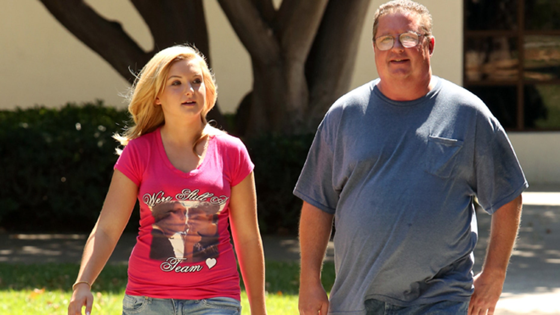Aug. 21, 2013: This file photo released shows Hannah Anderson, left, and her father Brett Anderson in San Diego, Calif.