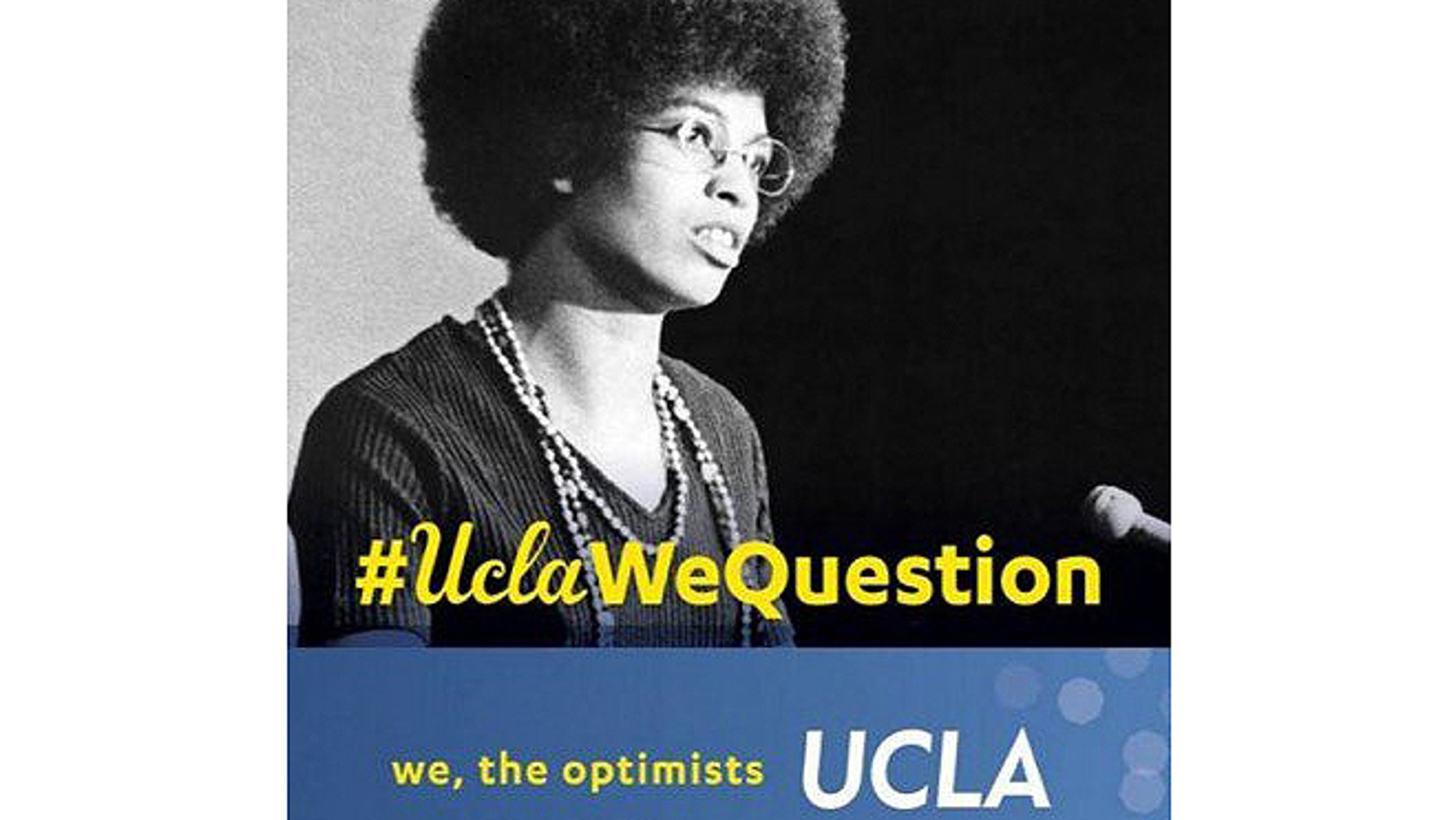Some students on the campus of UCLA have taken offense to this banner featuring former professor and avowed communist Angela Davis.