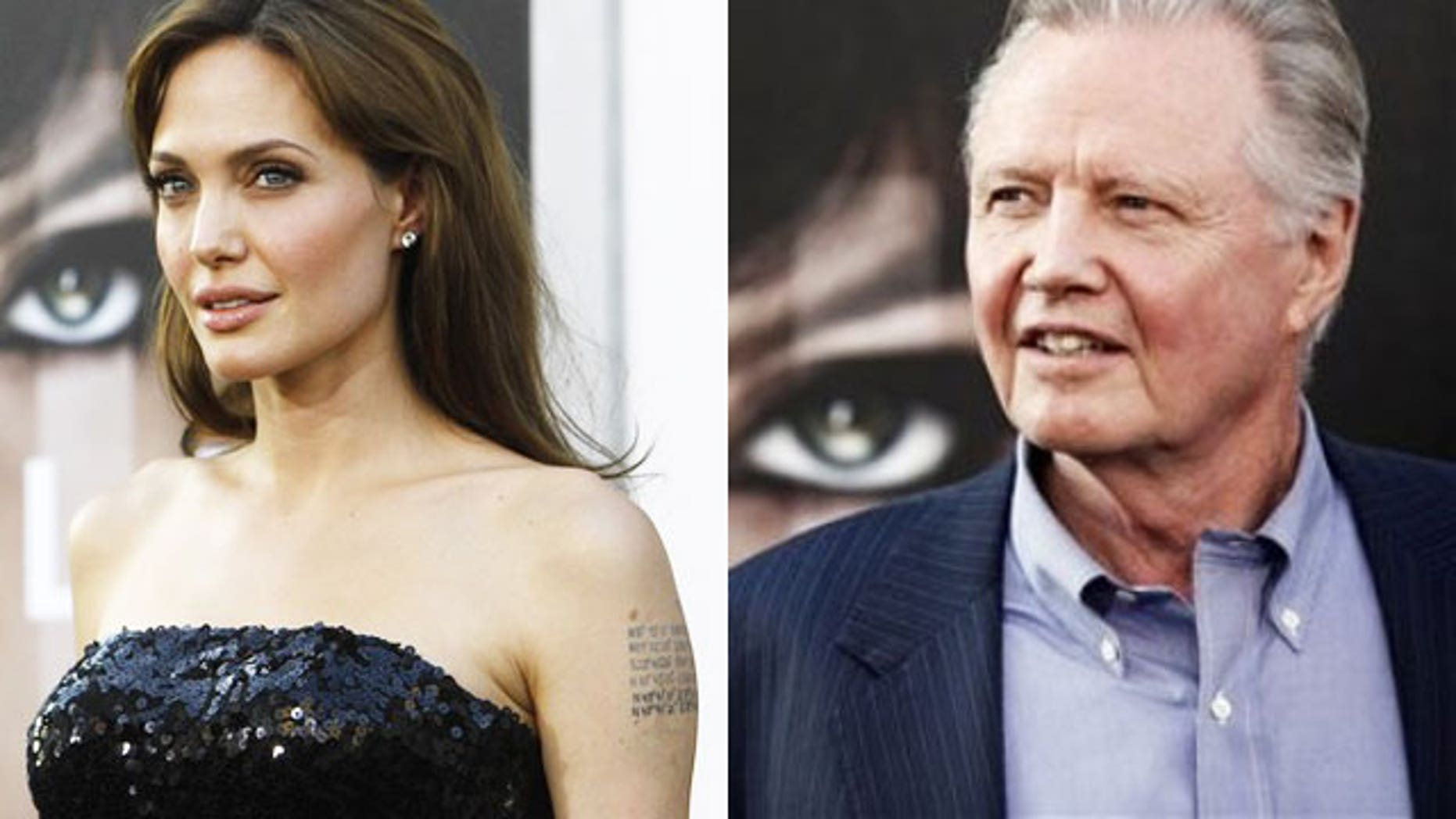 Angelina Jolie and Jon Voight at the Los Angeles premiere of the film 'Salt.' (AP)