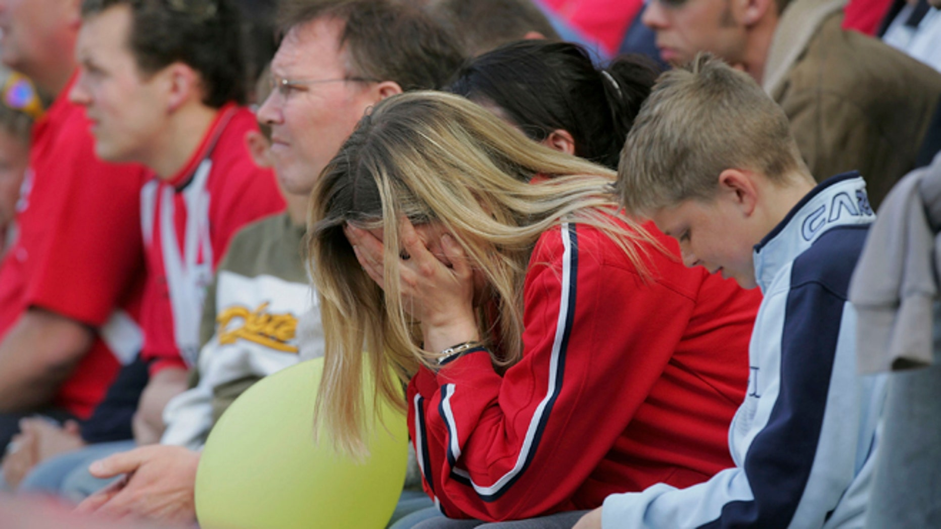 A distraught Southampton fan holds her head. Soccer fans in England are being told that a departure from the European Union will lower the quality of play in the Premier League. (Photo by Mike Hewitt/Getty Images)