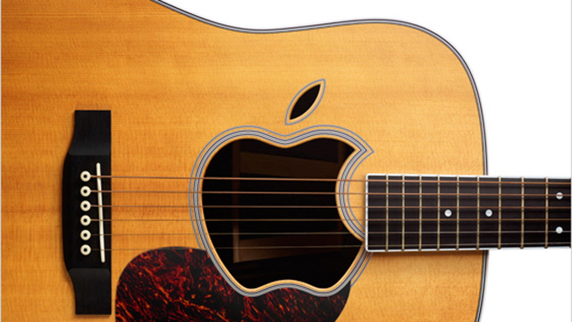 A guitar with an apple-shaped cut-out is featured in the invitation to Apple's upcoming event, scheduled for Wednesday, September 1, at the Yerba Buena Arts Center in San Francisco. Clearly, the event will focus on music.