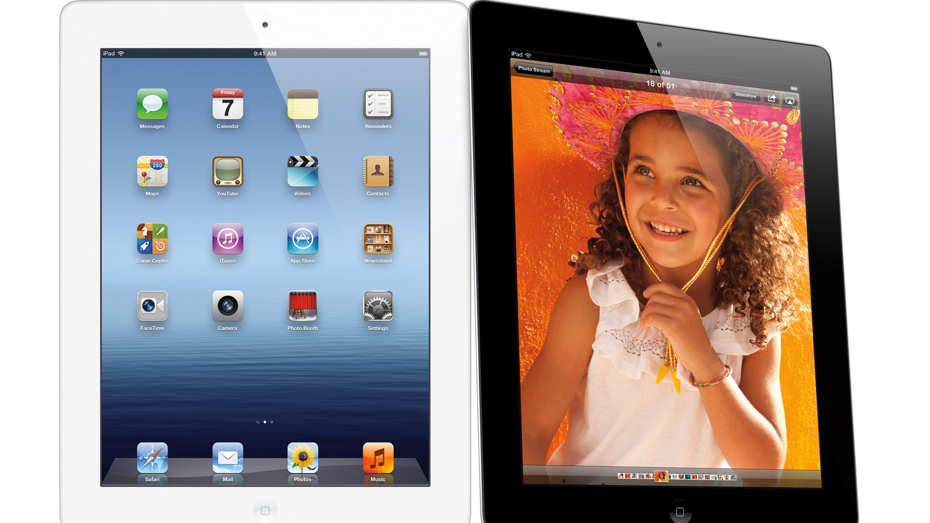 The new iPad features a sharper screen and a faster processor. Apple says the new display will be even sharper than the high-definition television set in the living room.