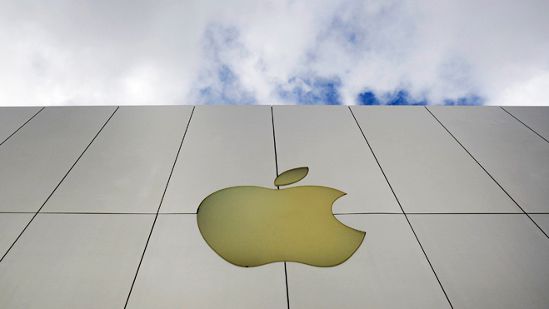 Jan. 25, 2013: The Apple logo is seen on an Apple store in San Francisco.