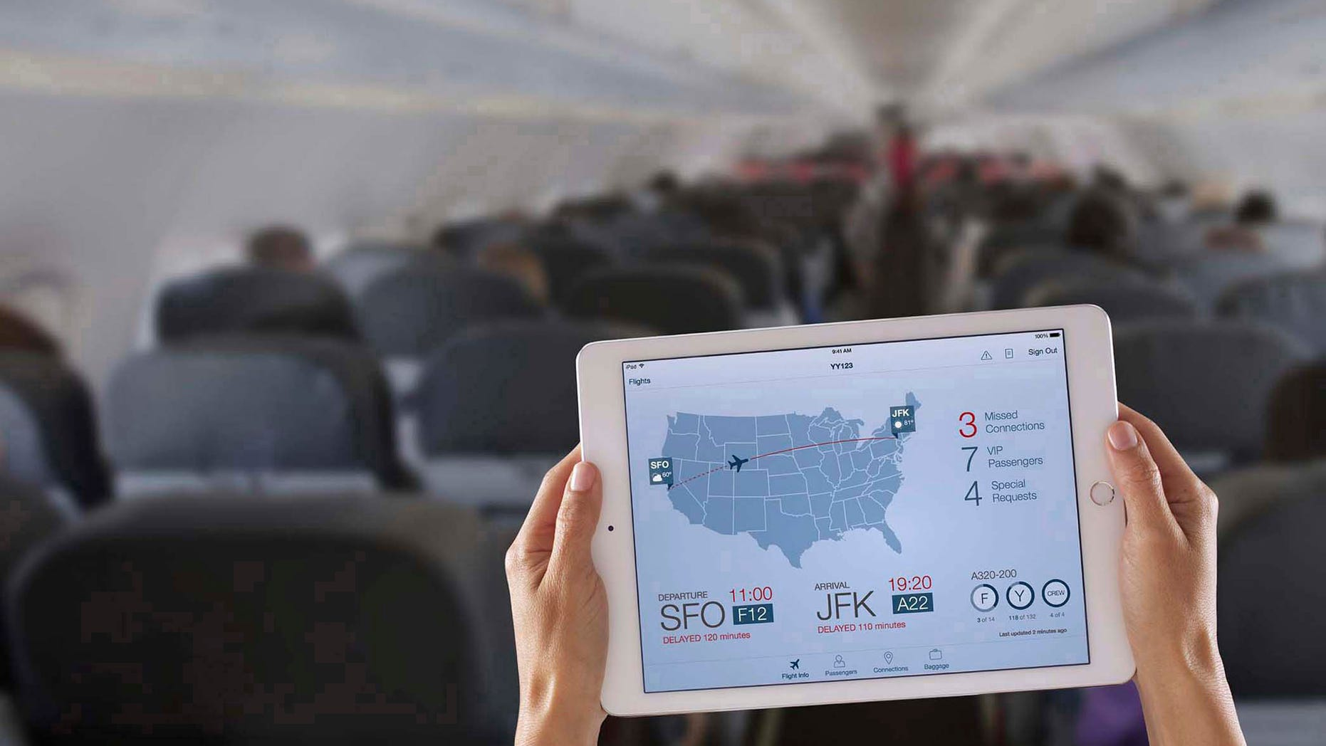 In this photo distributed for IBM: Apple and IBM announced the availability of the first made-for-business apps designed for iPhone and iPad business users on Dec. 10. The apps include Passenger+(pictured), which allows airline flight crews to offer personalized, in-flight services to passengers such as rebooking flights, accessing baggage information and providing special offers.