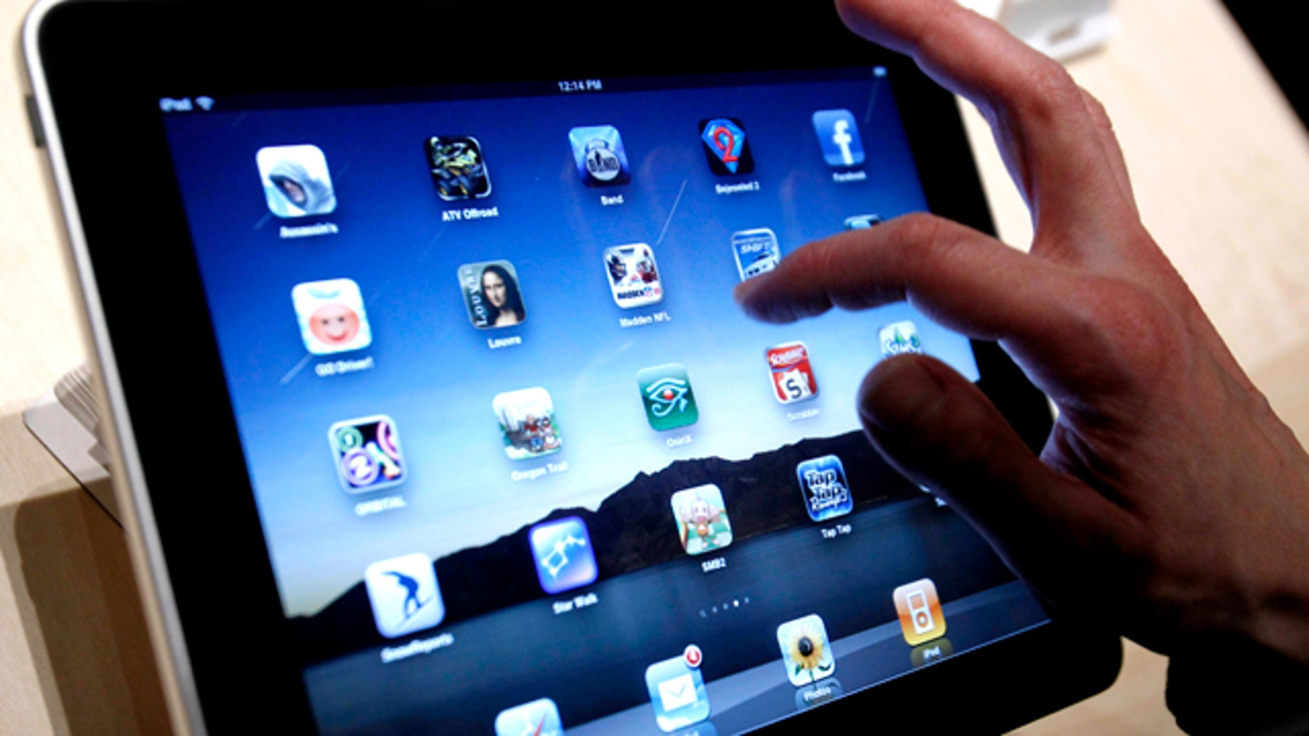 The iPad after it was unveiled at the Moscone Center in San Francisco in early 2010. Apple is expected to unveil the second generation of its wildly successful media tablet this week, widening its head start against competitors just starting to sell their first tablet computers.