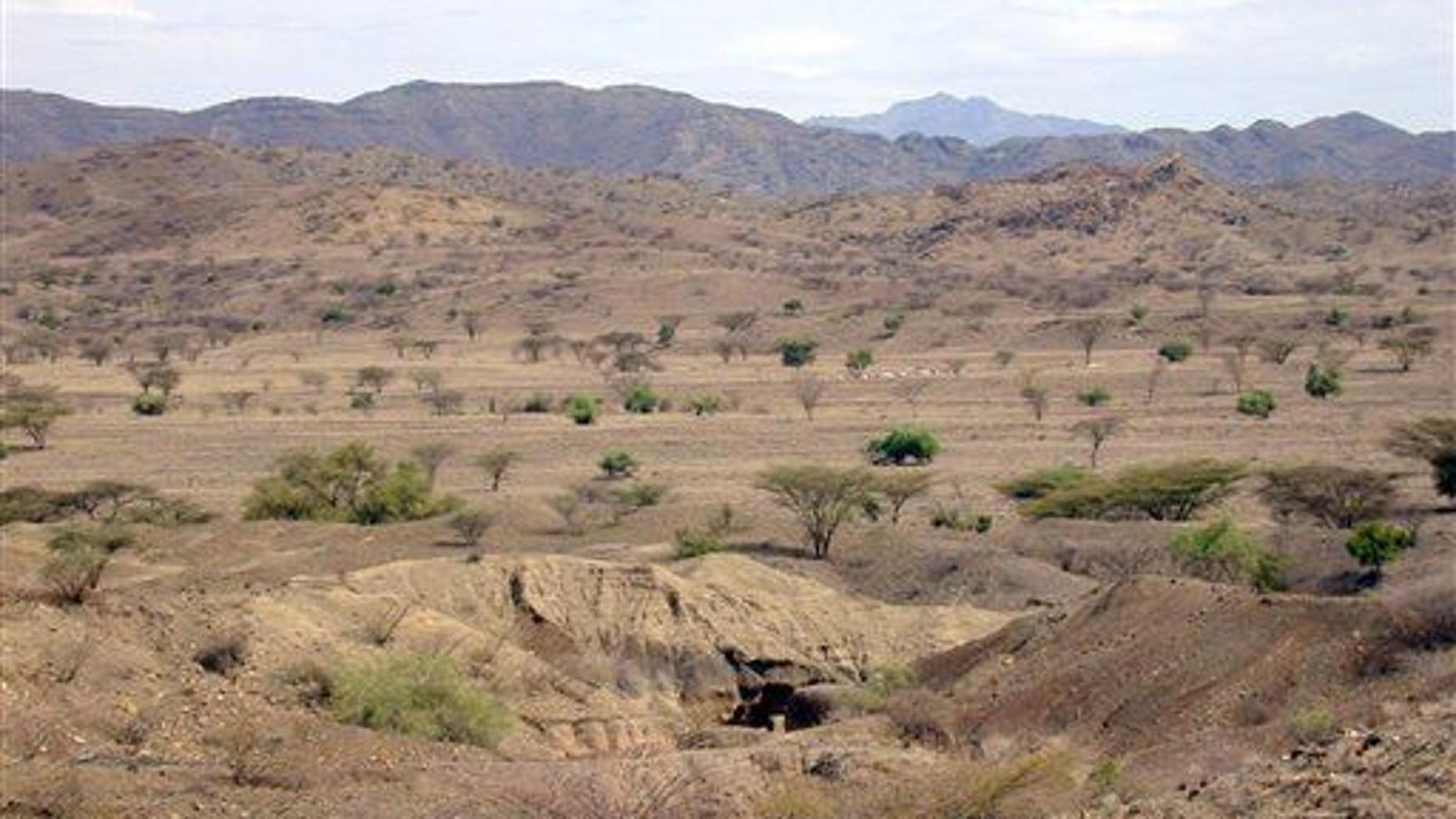 File photo of an archaeological site near the Lake Turkana area in Kenya. The world's earliest known tools may have been found in the region.