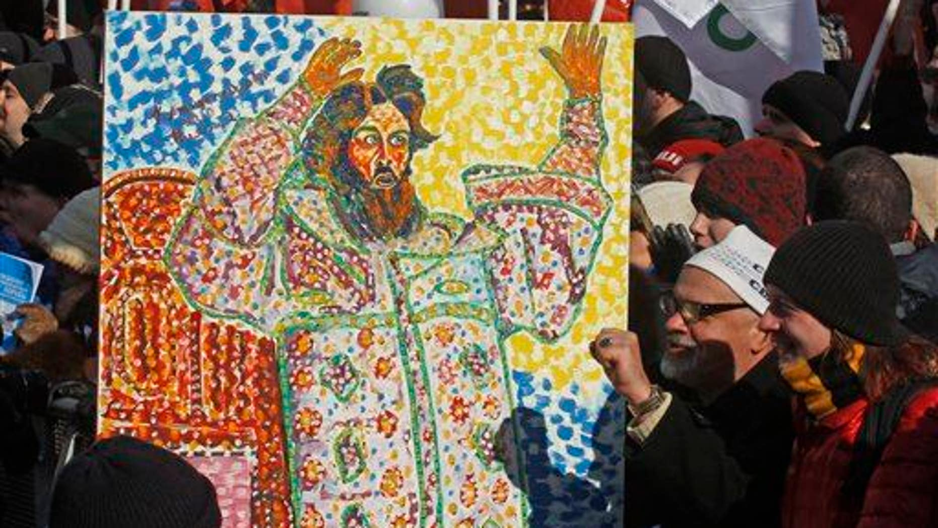 A placard depicts Czar Ivan The Terrible.