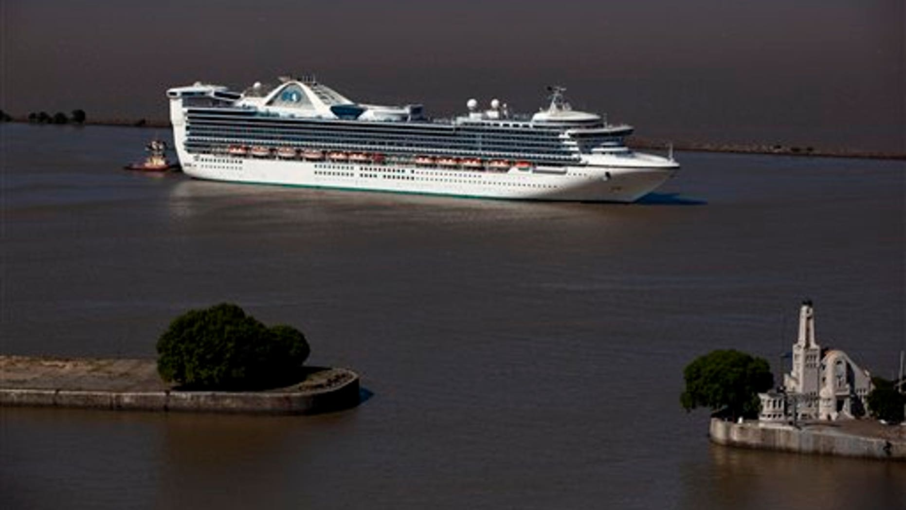 Jan. 17: The Star Princess cruise ship leaves Buenos Aires' port in Argentina.