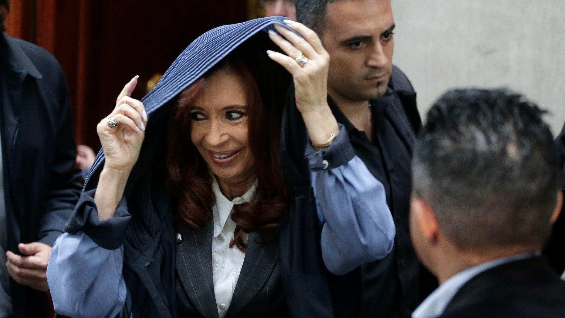 Argentina's former President Cristina Fernandez in an April 13, 2016 file photo.