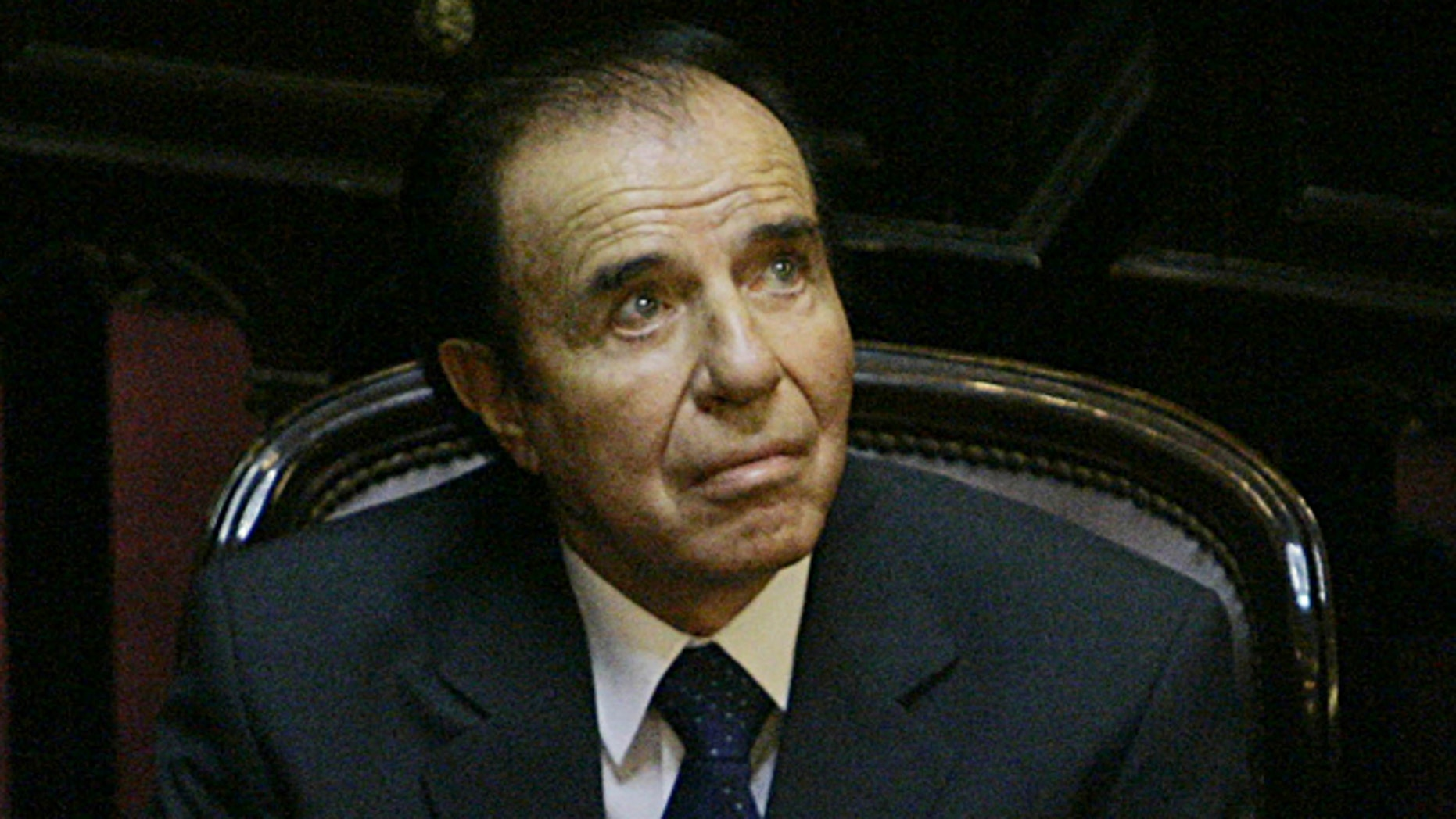 Argentina's former President Carlos Menem in a 2005 file photo.