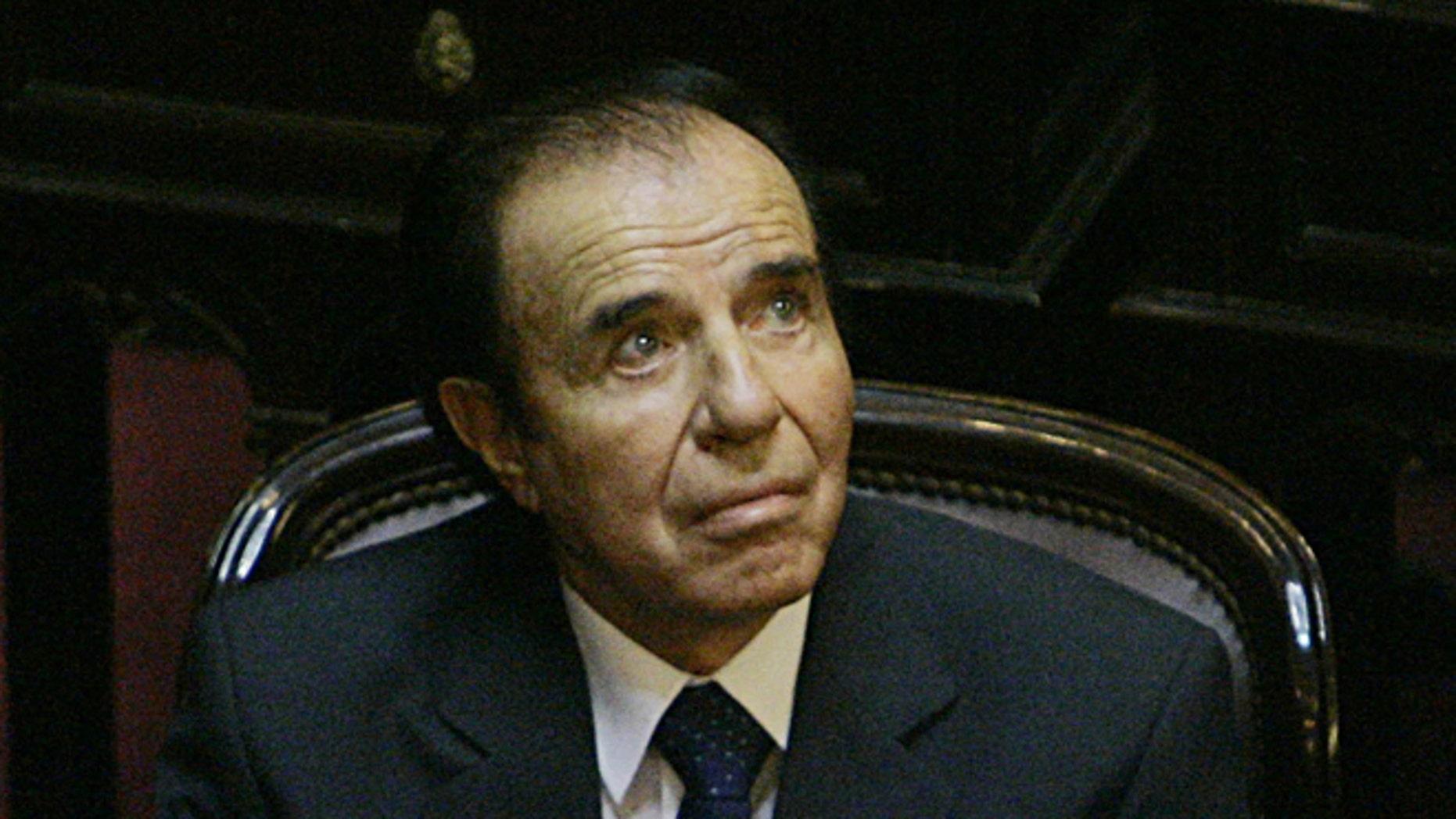 Former Argentine President Carlos Menem in a 2005 file photo.