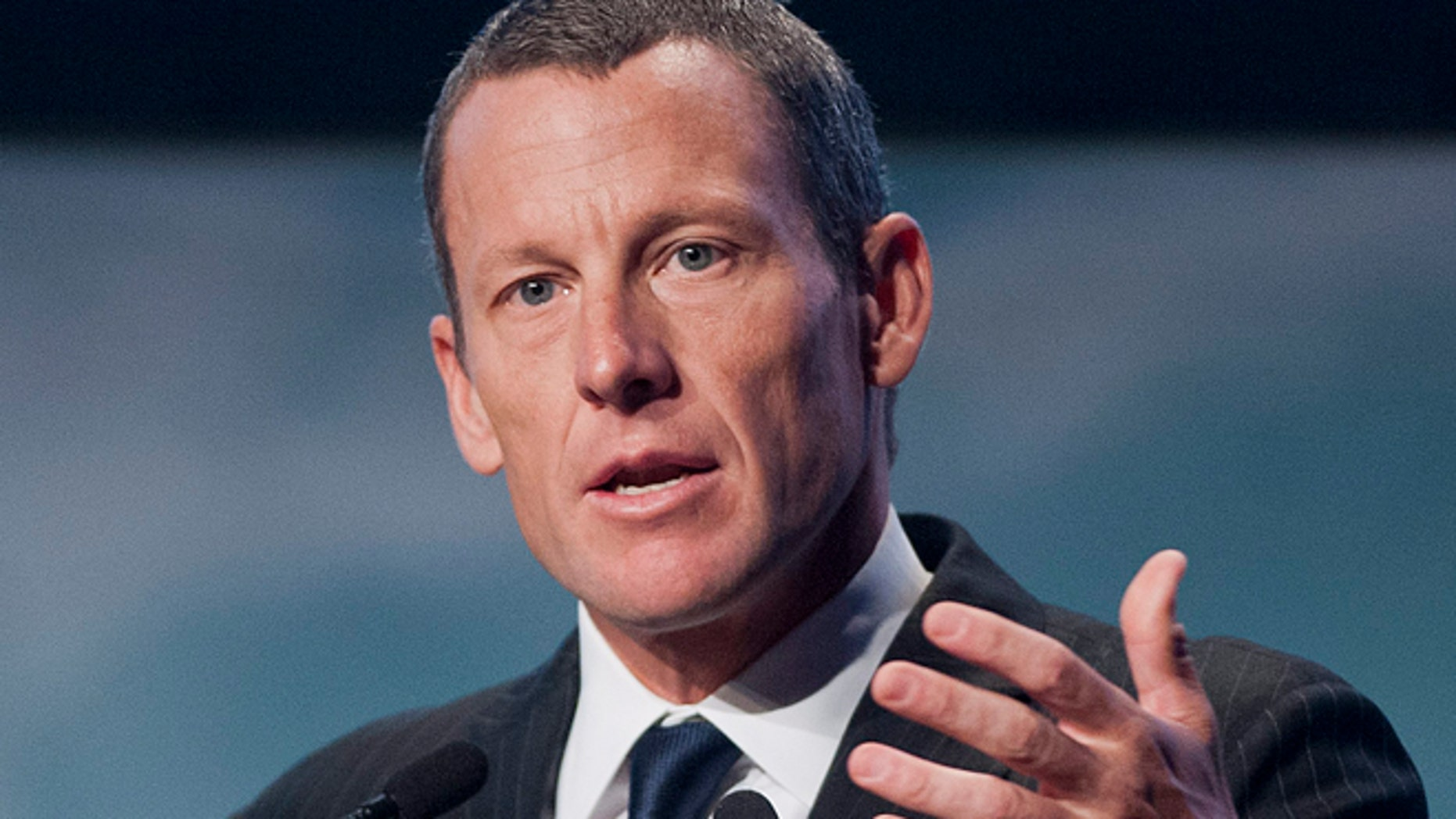 Aug. 29, 2012: In this file photo, Lance Armstrong speaks to delegates at the World Cancer Congress in Montreal. (AP/The Canadian Press, Graham Hughes, File)
