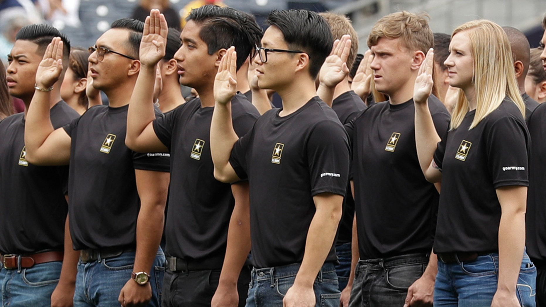 The Army has missed its recruiting goal for the first time in more than a decade. Army leaders say they signed up about 70,000 new troops for the fiscal year that ends Sept. 30, 2018.