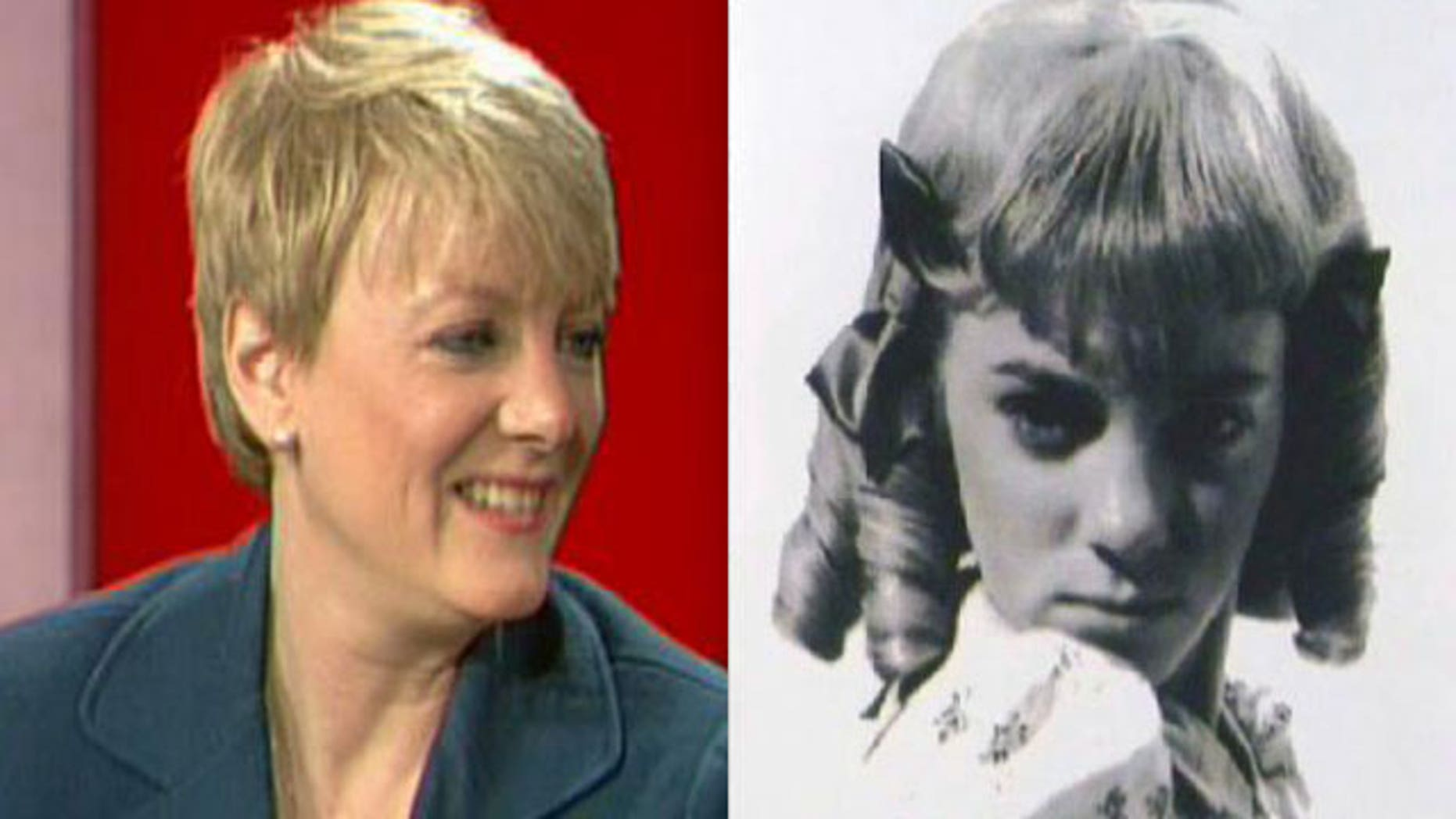 Actress Alison Arngrim on FoxNews.com's 'The Strategy Room' (left) and as Nellie Oleson on 'Little House on the Prairie.'