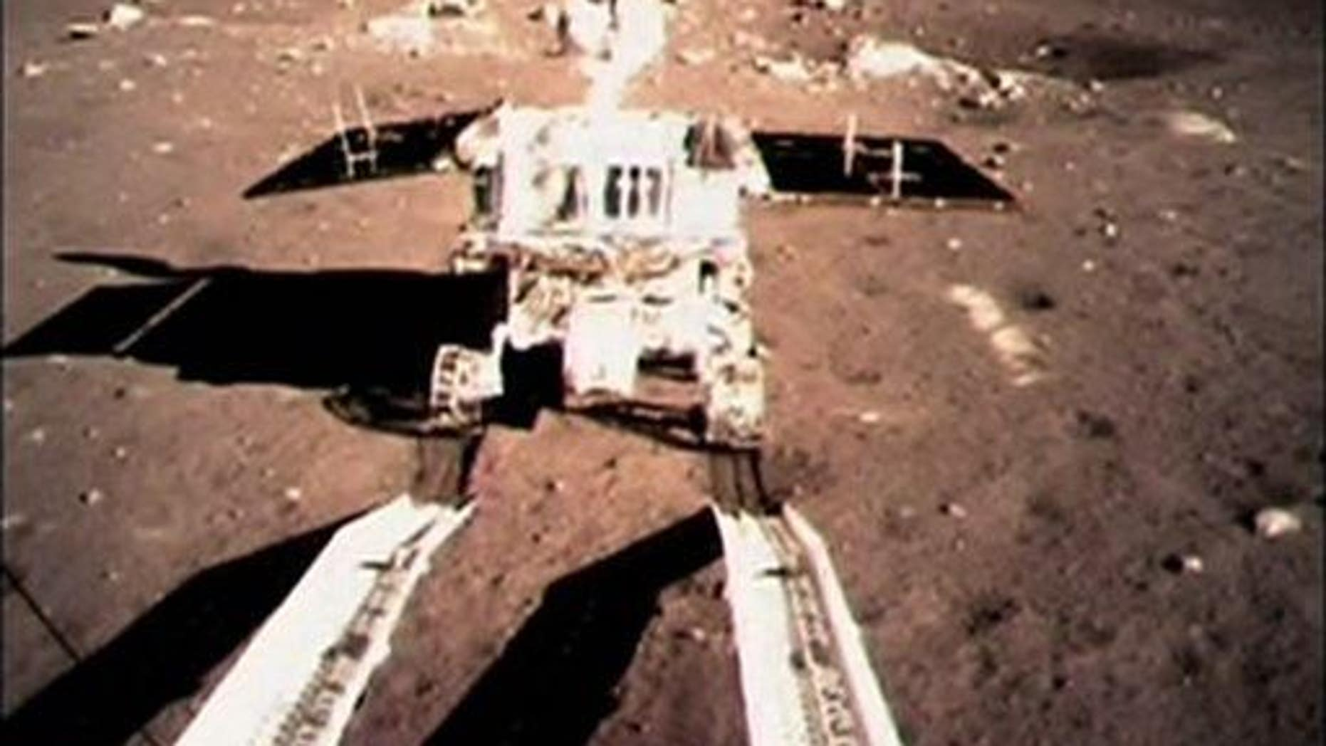 China's Jade Rabbit touches the lunar surface in this Dec. 15, 2013, file photo.