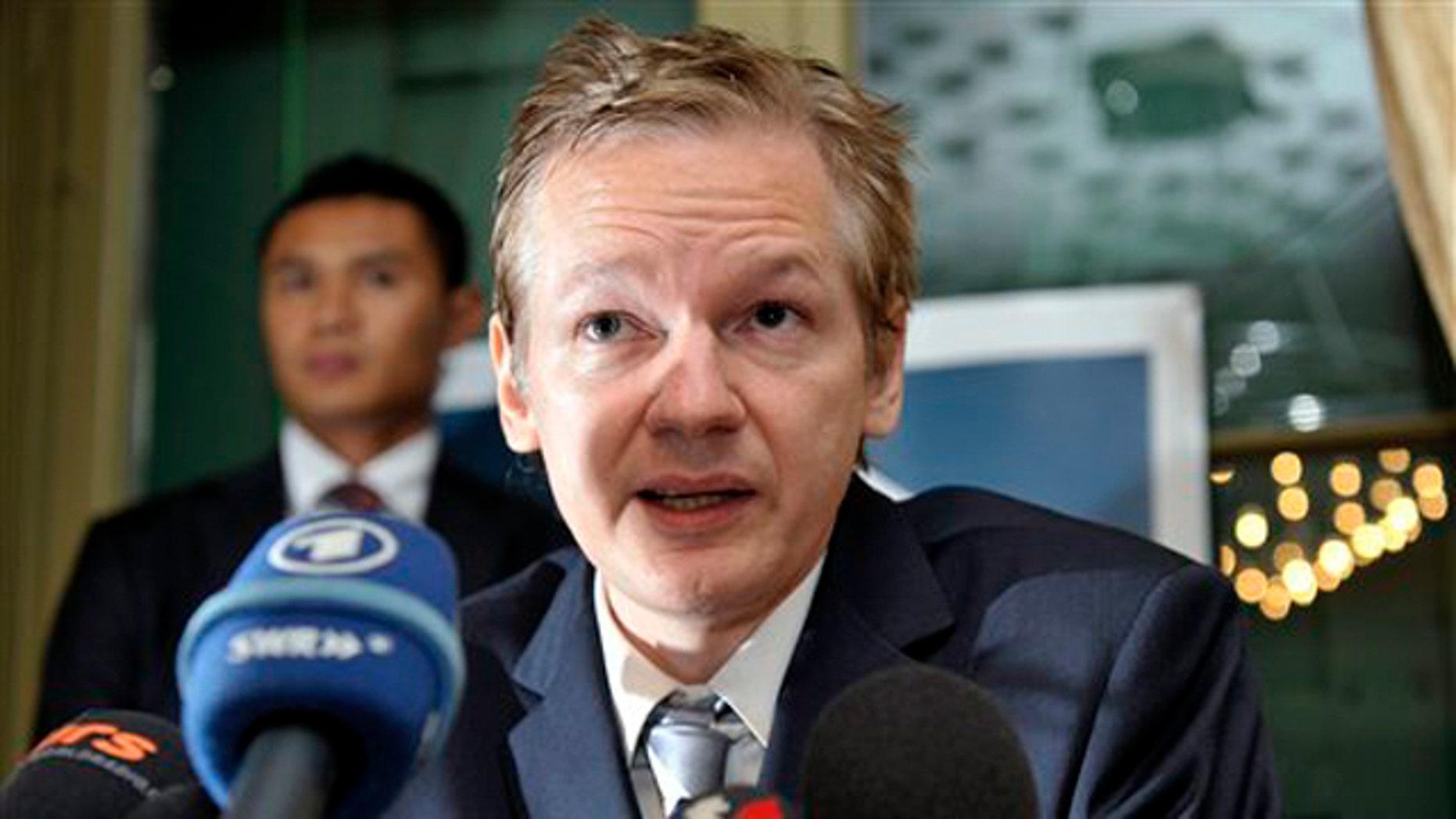 WikiLeak's founder Julian Assange