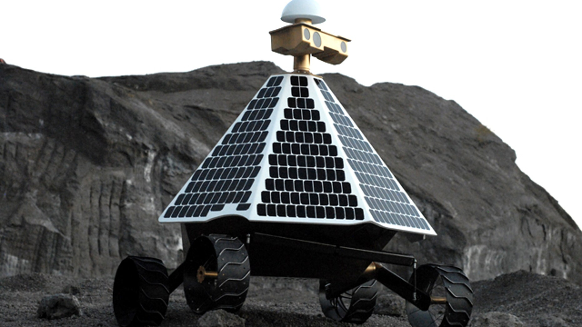 Astrobotic Technology's Red Rover, a lunar exploration vehicle that the company claims will be able to scout and drill for precious resources at the moon's poles.