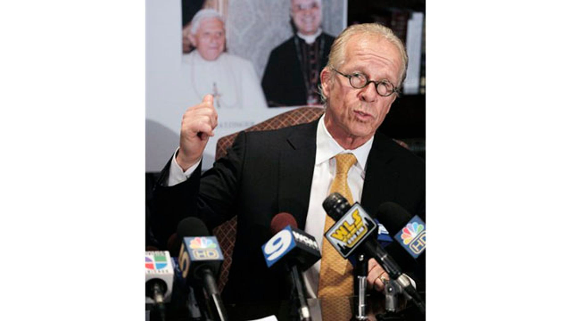 May 11: Attorney Jeff Anderson speaks at a news conference in Chicago about a lawsuit he filed suing the Vatican on behalf of a woman whose son was sexually abused by Chicago priest Father Daniel McCormack.