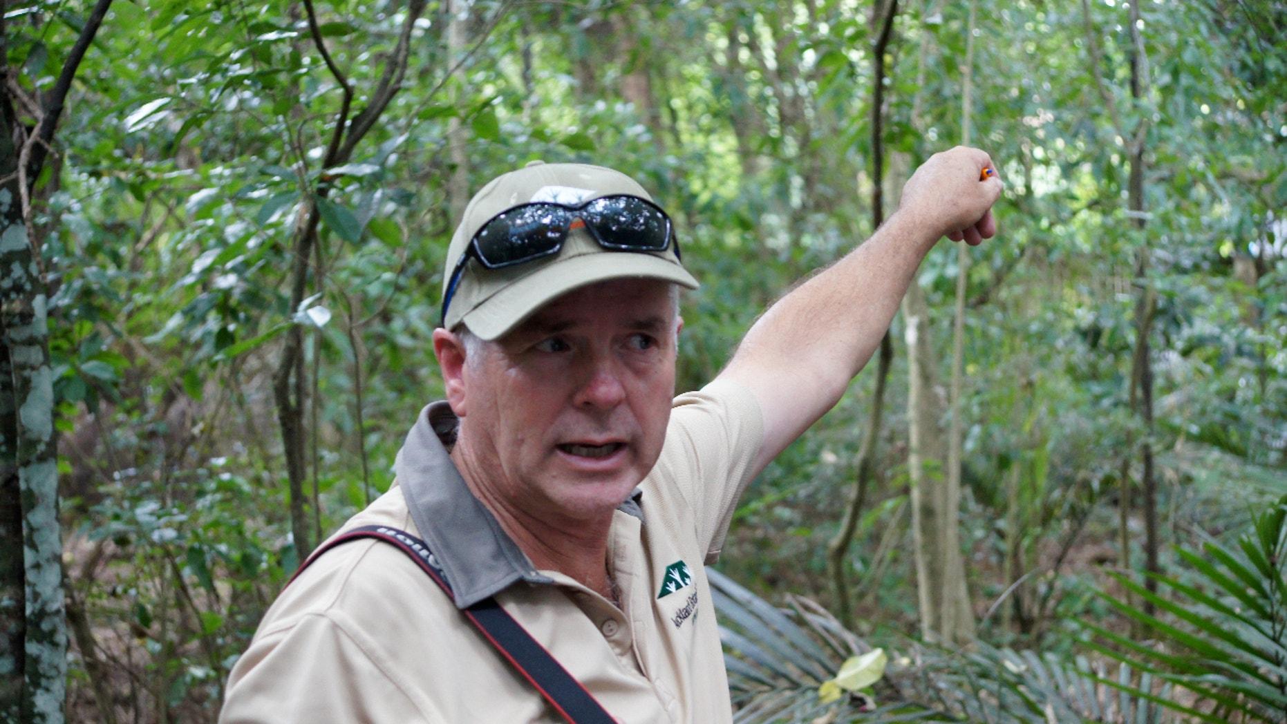 Auckland Botanic Gardens Director Jack Hobbs in forest