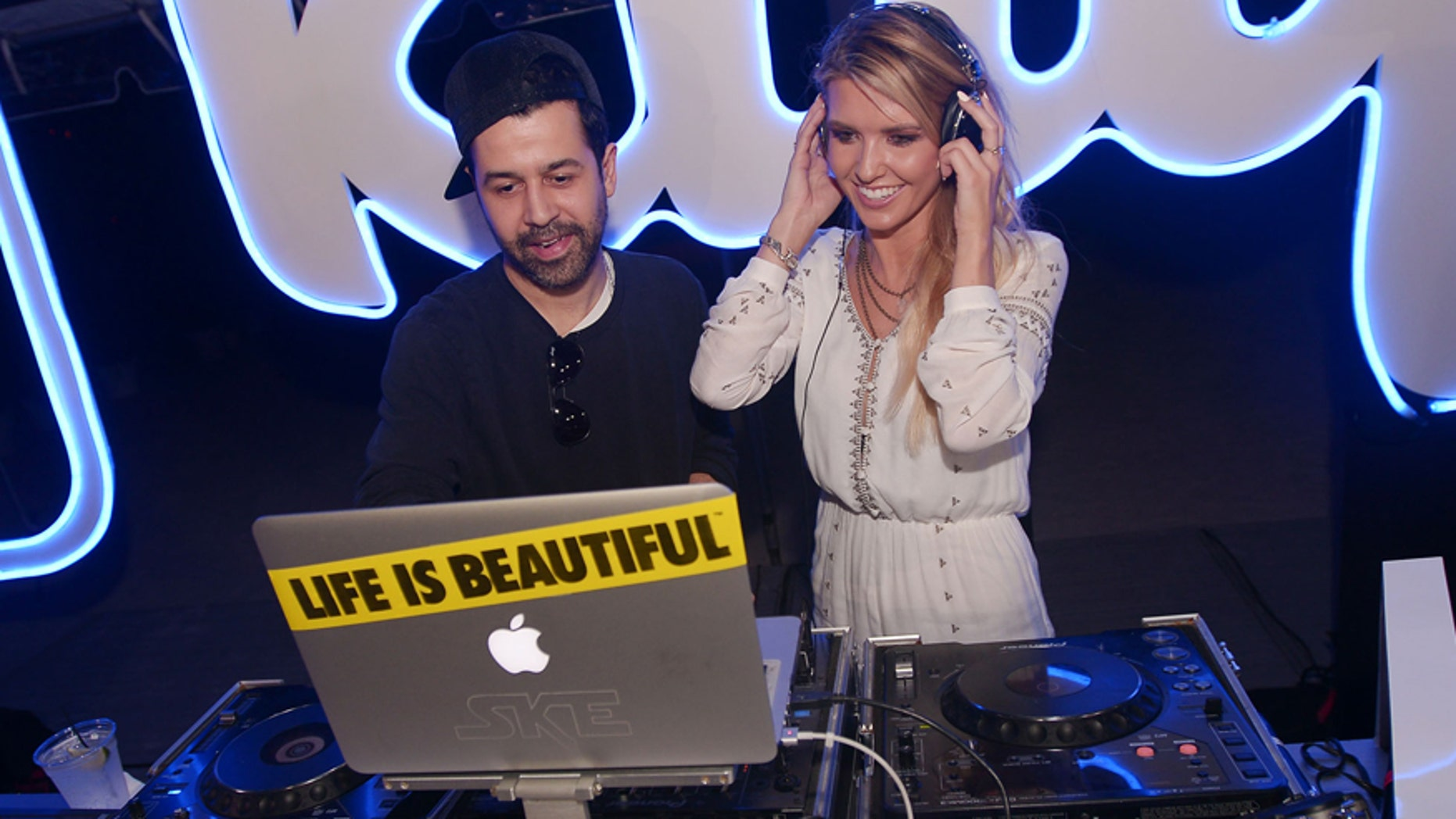 Jus Ske & Audrina Patridge at the Klique App South Florida Launch Party at the Raleigh Hotel on June 6th, 2015.