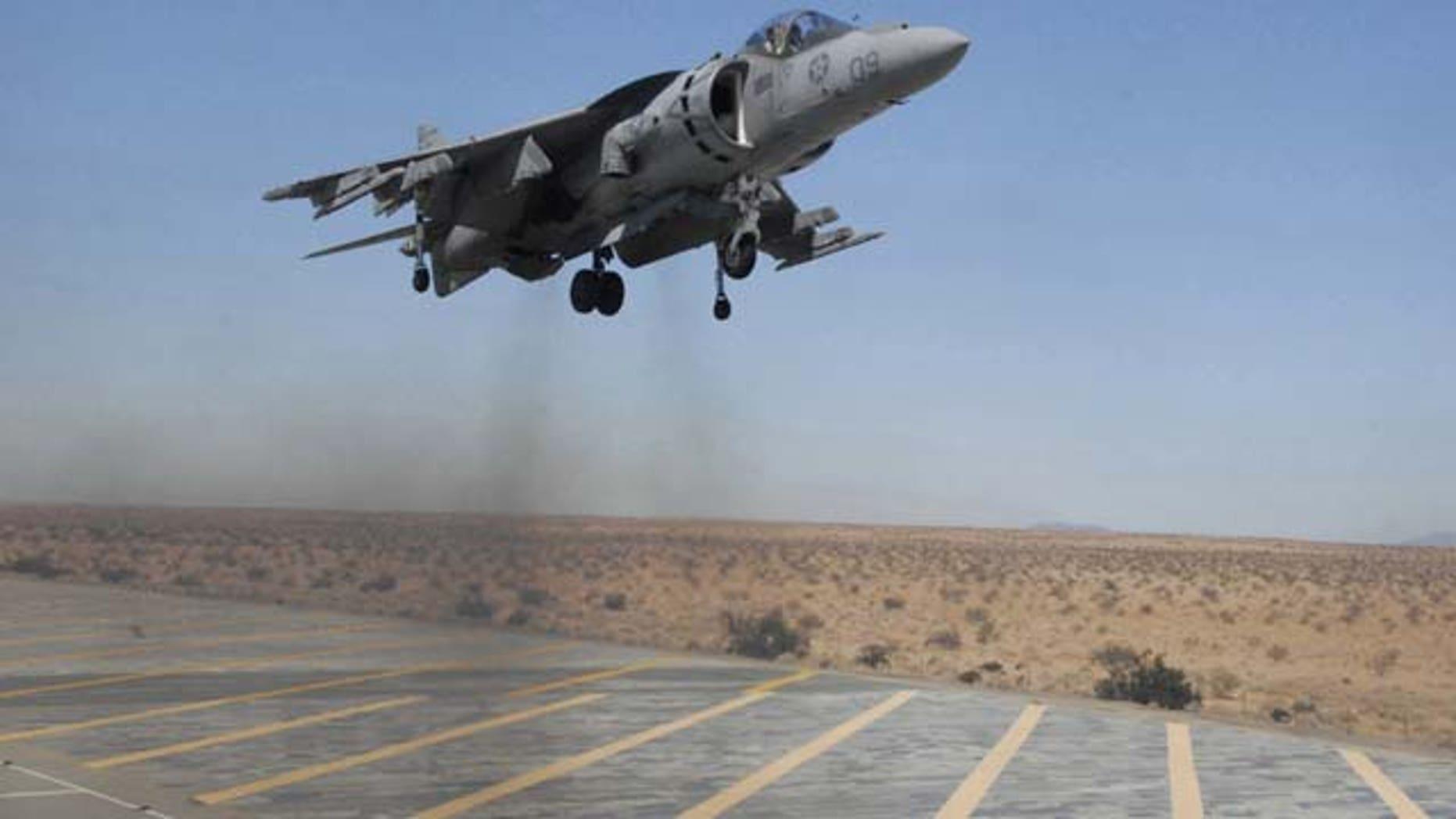 An AV-8B Harrier aircraft (AP Photo)