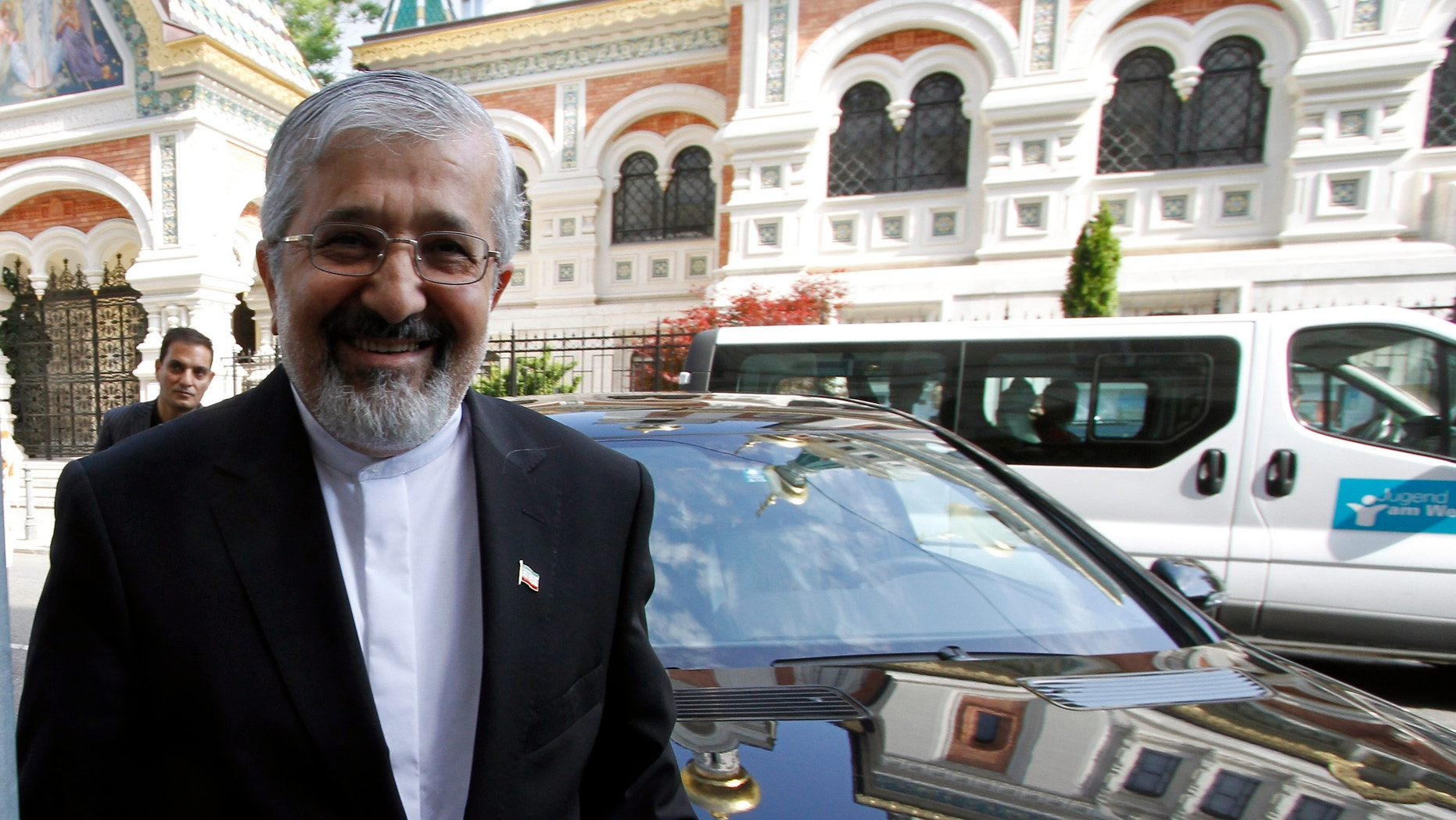 May 15, 2012: Iran's Ambassador to the International Atomic Energy Agency, IAEA, Ali Asghar Soltanieh arrives for talks with the International IAEA at the permanent mission of Iran in Vienna, Austria.