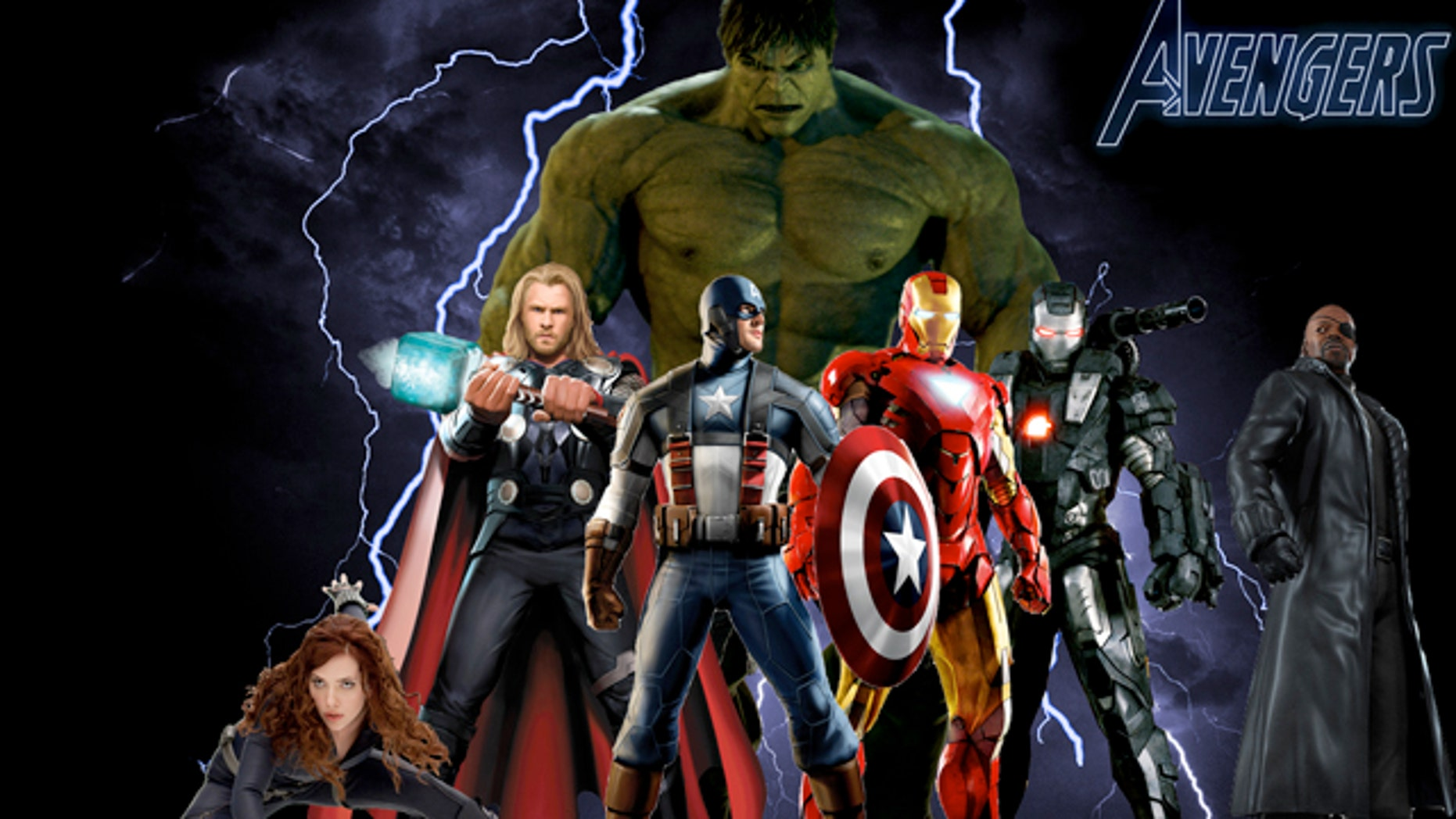 """A poster advertising the forthcoming film """"The Avengers,"""" which tells the story of """"a group of remarkable people"""" gathered to help save the planet. But are those """"people"""" human?"""