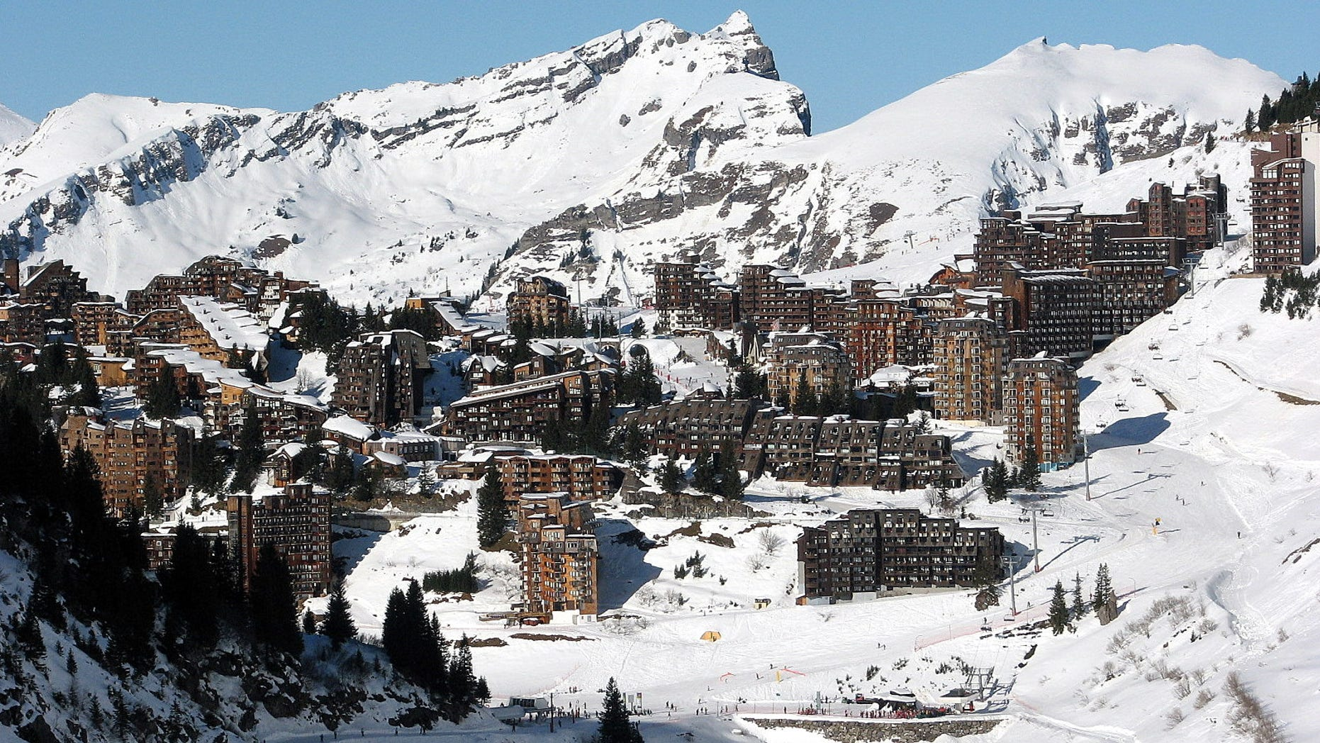 A teenager died in a skiing accident near the Avoriaz ski resort, seen above.