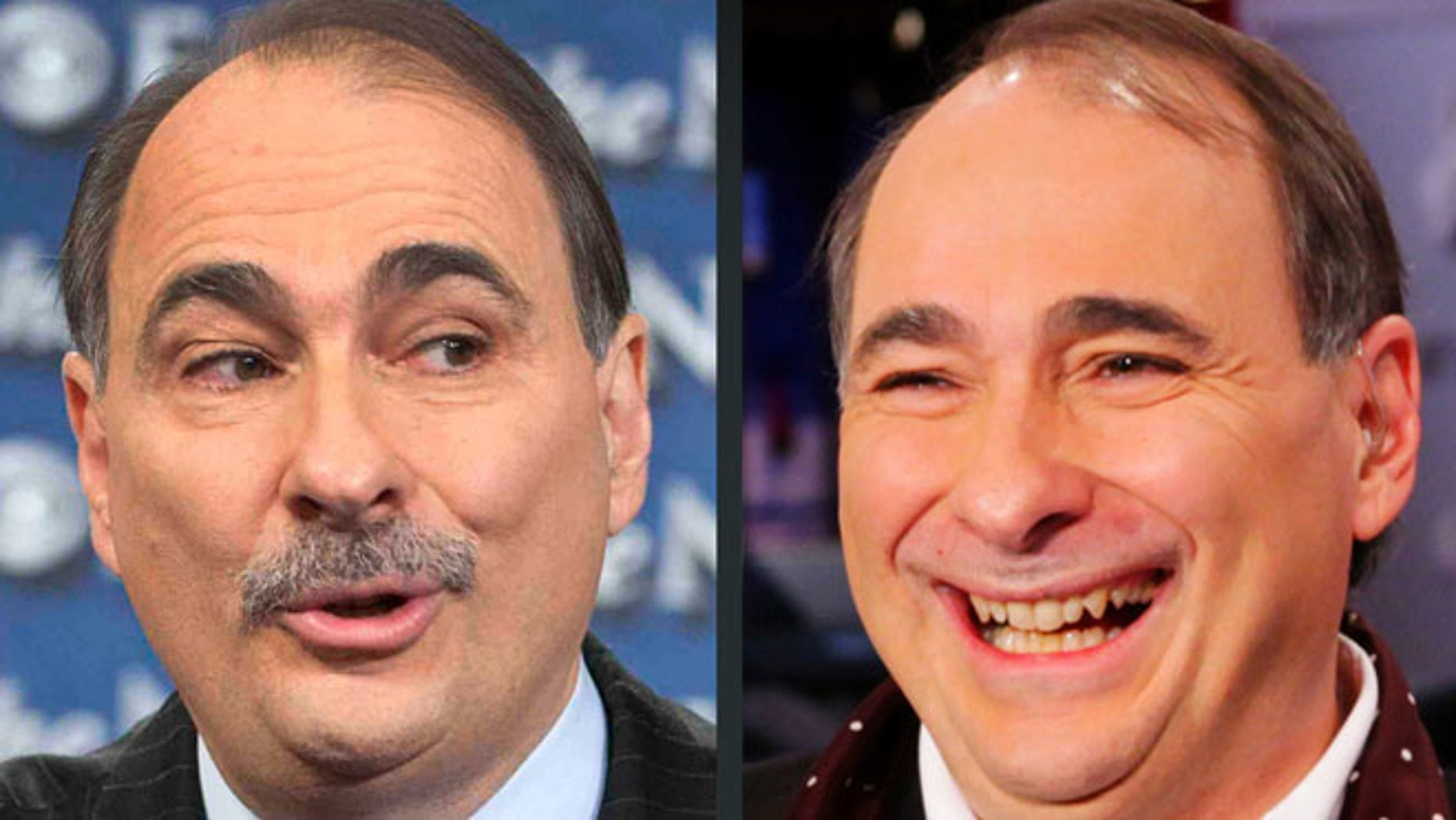 Before and after: David Axelrod, adviser to the Obama campaign