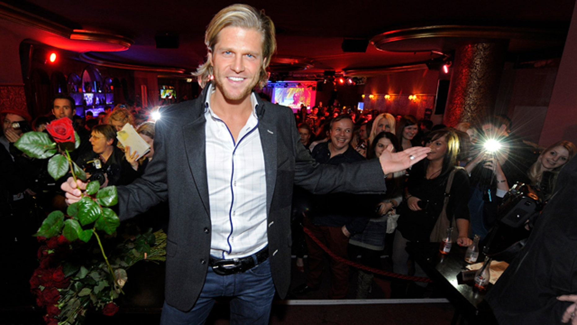 "Feb. 22, 2012:  Paul Janke from ""The Bachelor"" attends the Bachelor Party at Cafe Keese in Hamburg, Germany."