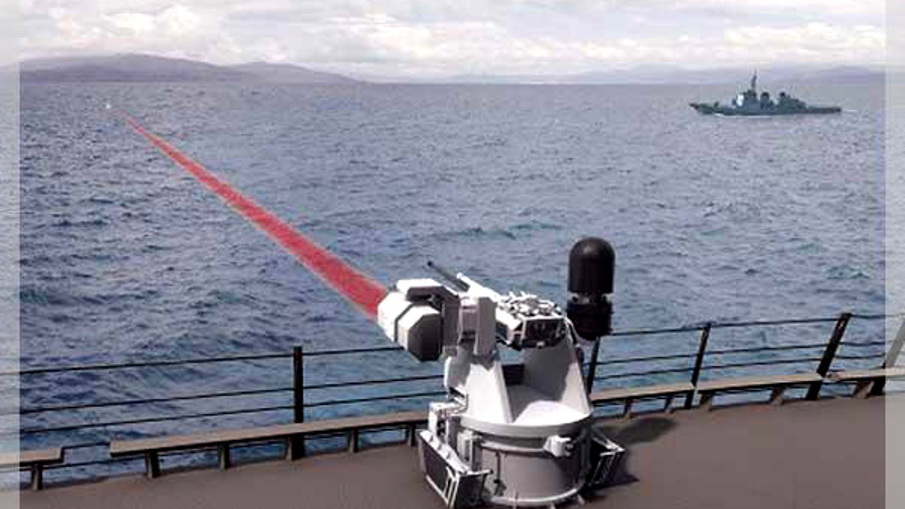 BAE System's ship defense laser.