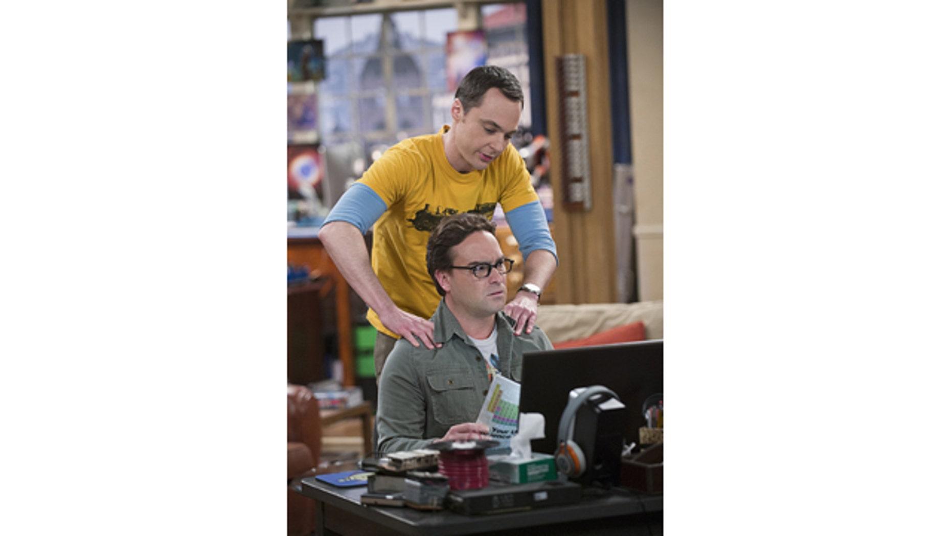 Johnny Galecki and Jim Parsons play Leonard and Sheldon on 'The Big Bang Theory' (Neil Jacobs/CBS)