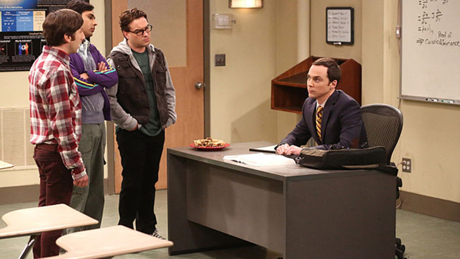 Simon Helberg, Kunal Nayyar, Johnny Galecki and Jim Parsons in 'The Big Bang Theory' (Michael Ansell/CBS)