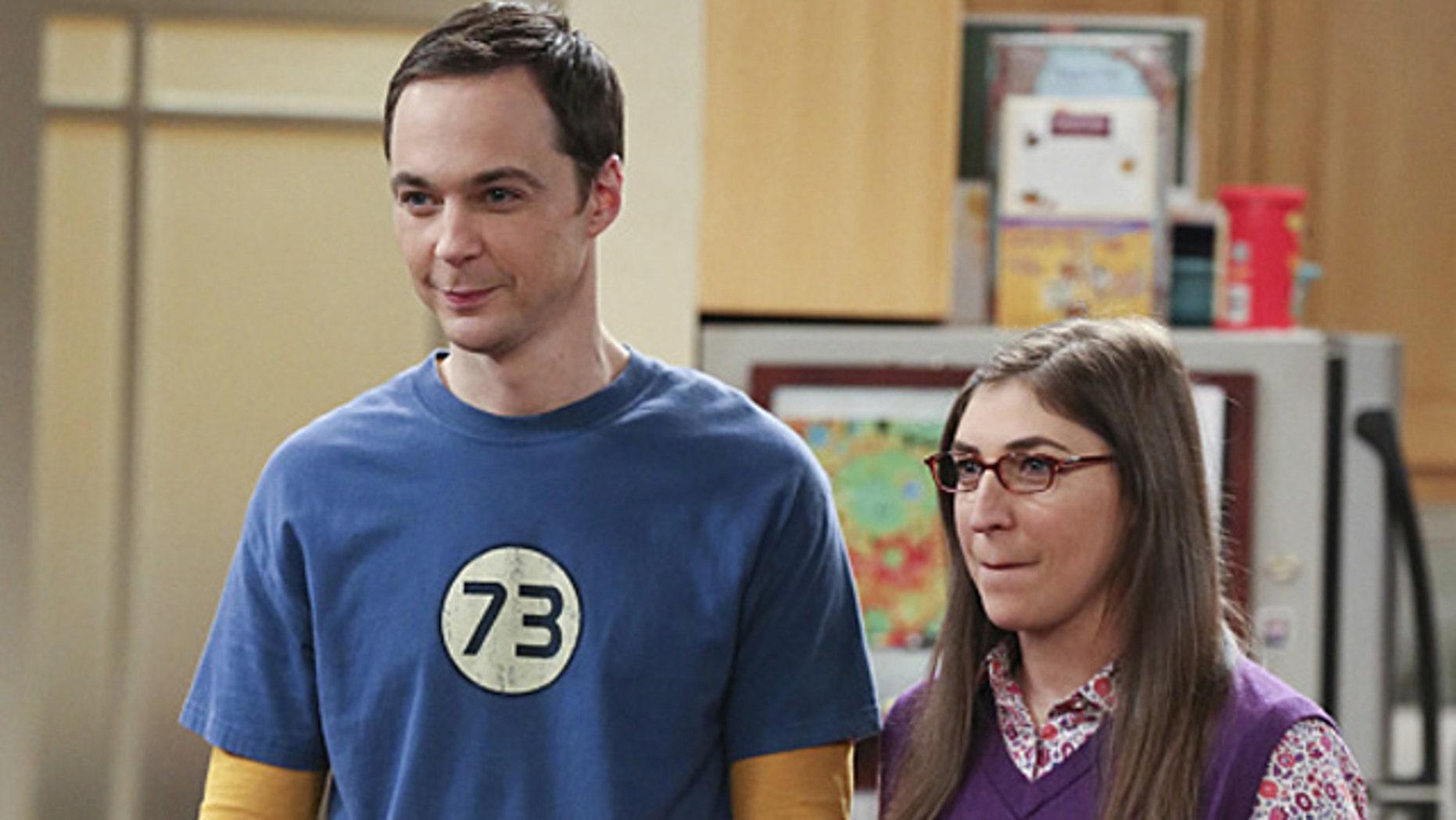 Jim Parsons and Mayim Bialik as Sheldon and Amy on CBS' 'The Big Bang Theory (Michael Yarish/Warner Bros. Entertainment Inc.)