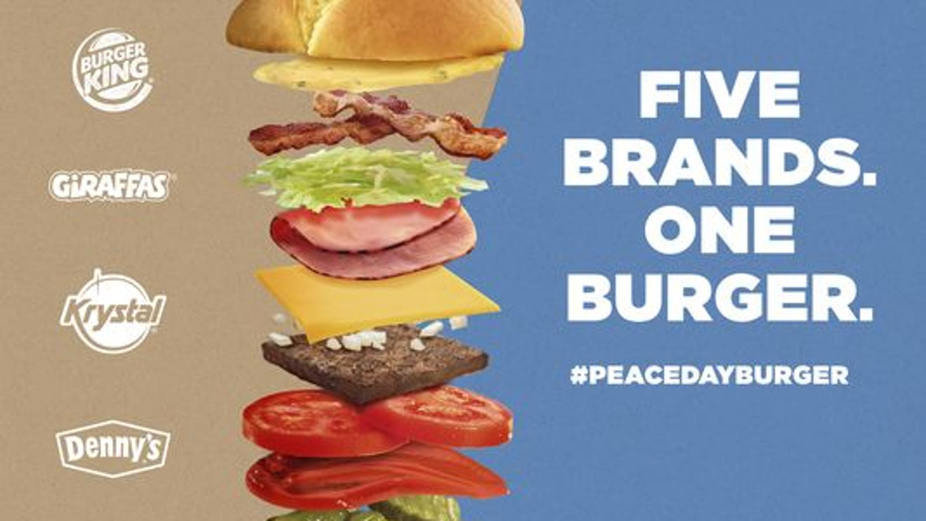 The new burger is a mashup between five fast food chains.