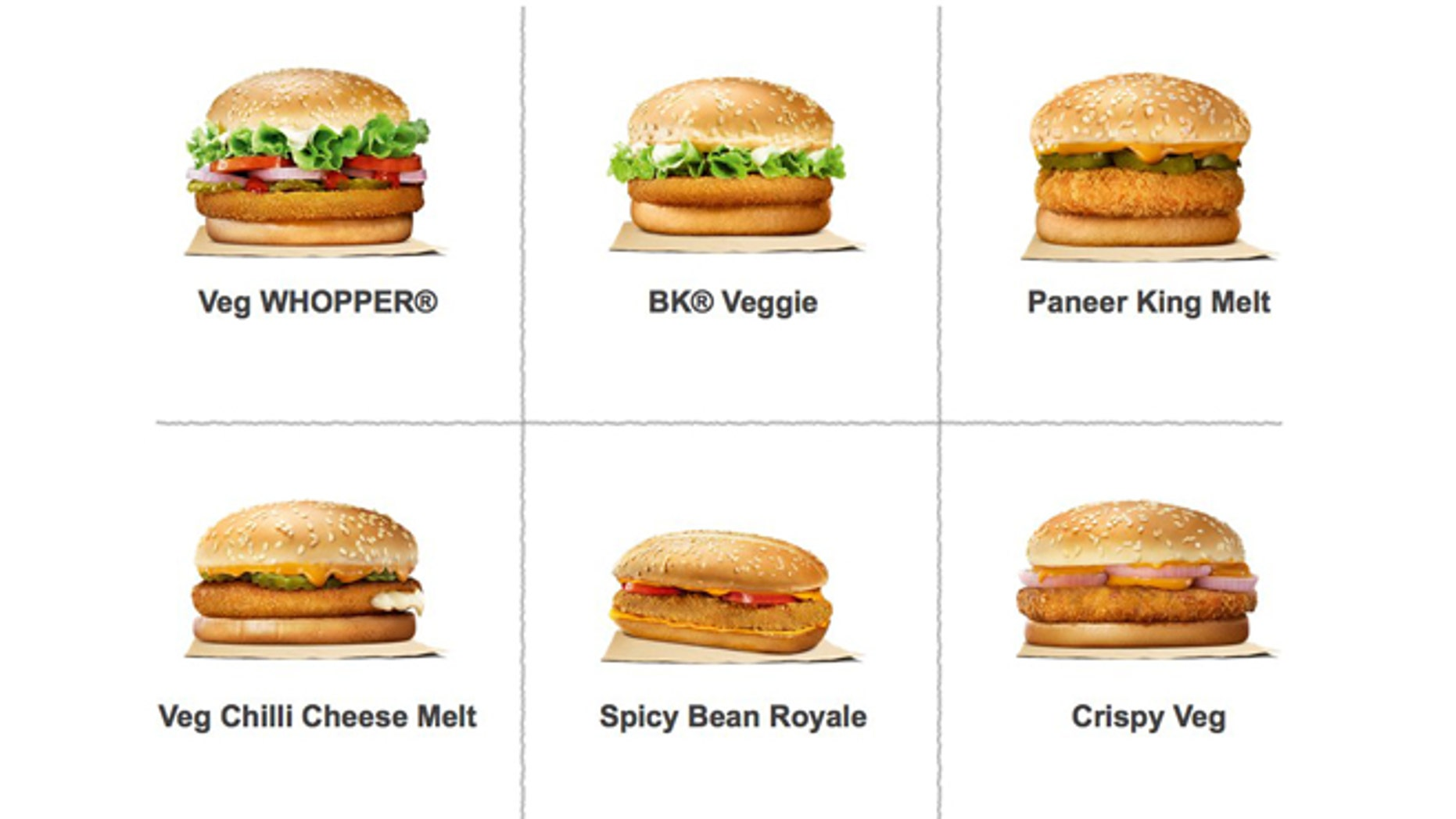 There are plenty of vegetarian options available at India's Burger King locations.