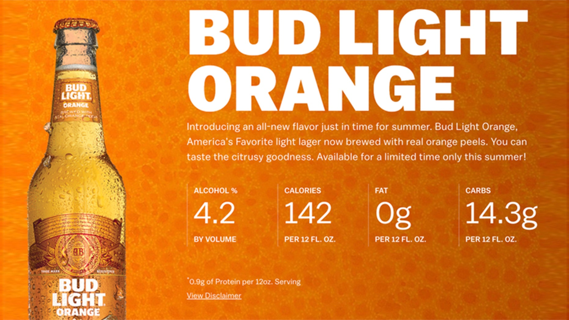 Anheuser Busch Debuts Summery New Bud Light Orange Fox News