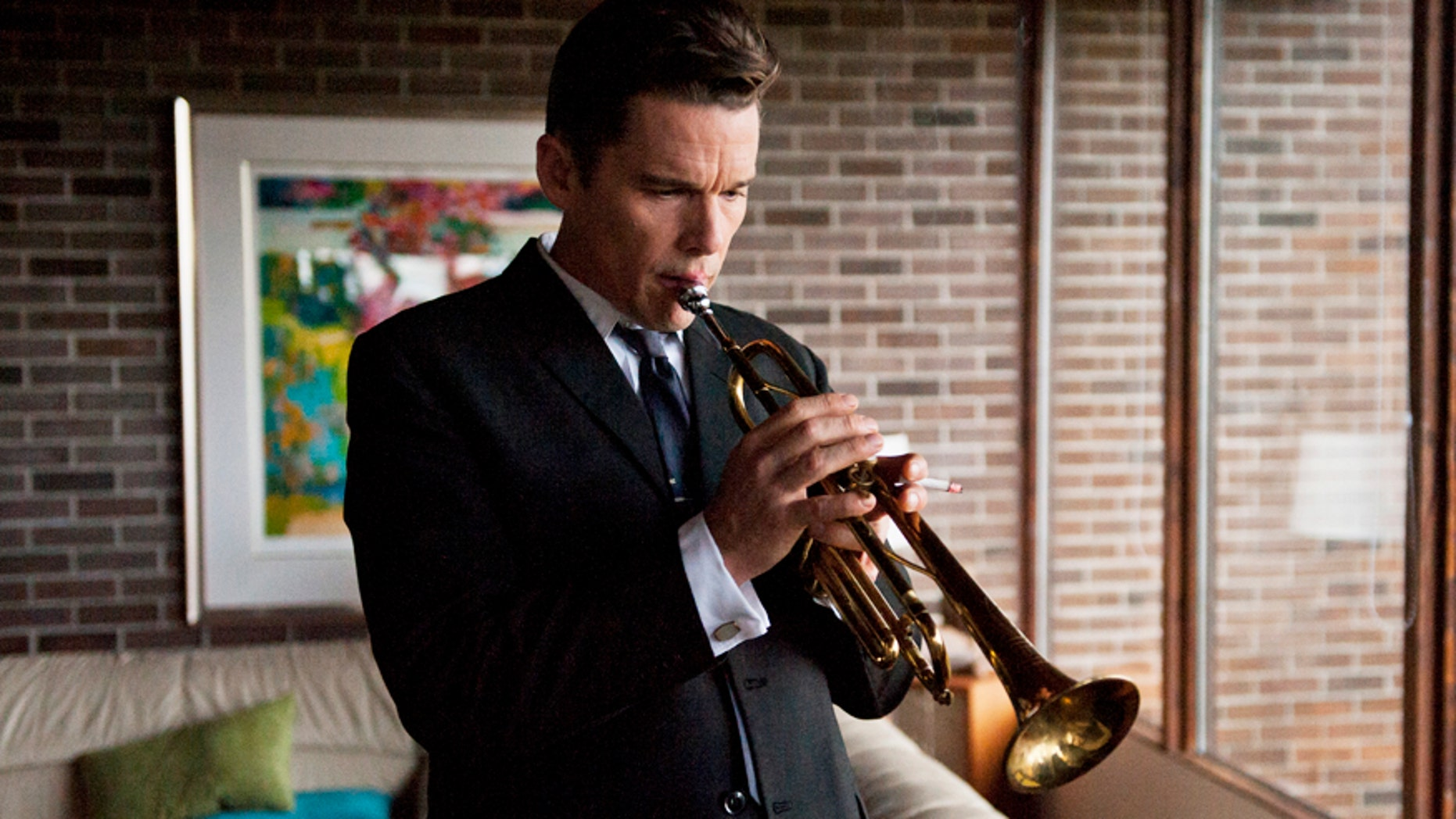 """Ethan Hawke plays Chet Baker in Robert Budreau's, """"Born to Be Blue."""" Courtesy of Caitlin Cronenberg. An IFC Films release"""