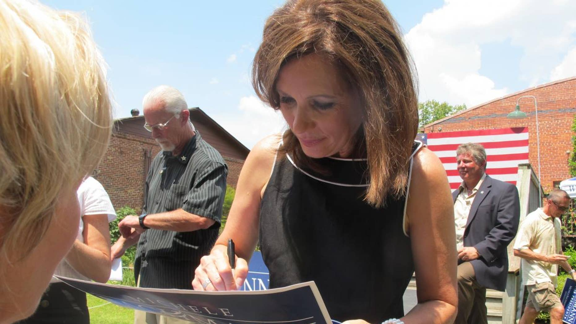 Michele Bachmann after a South Carolina campaign event. (File/Fox News Photo)