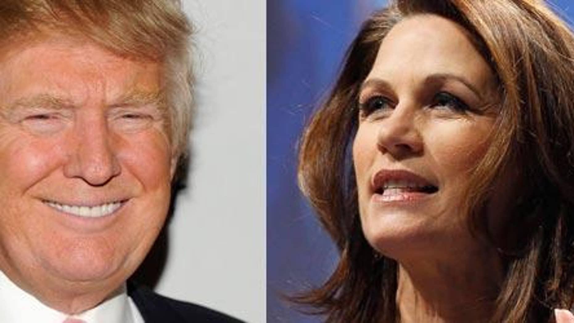 AP/Donald Trump & Michele Bachmann (R-MN)