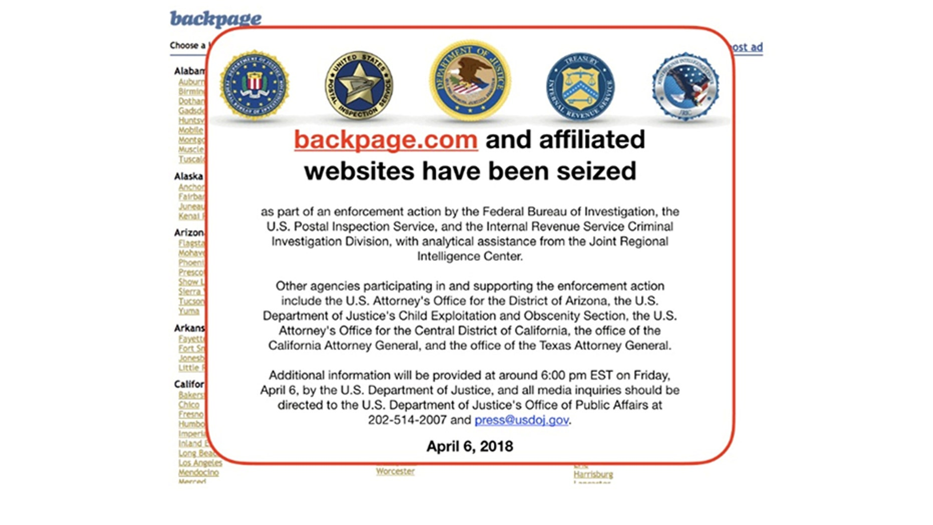 Backpage Com The Controversial Website Infamous For Its Sex Related Classified Ads