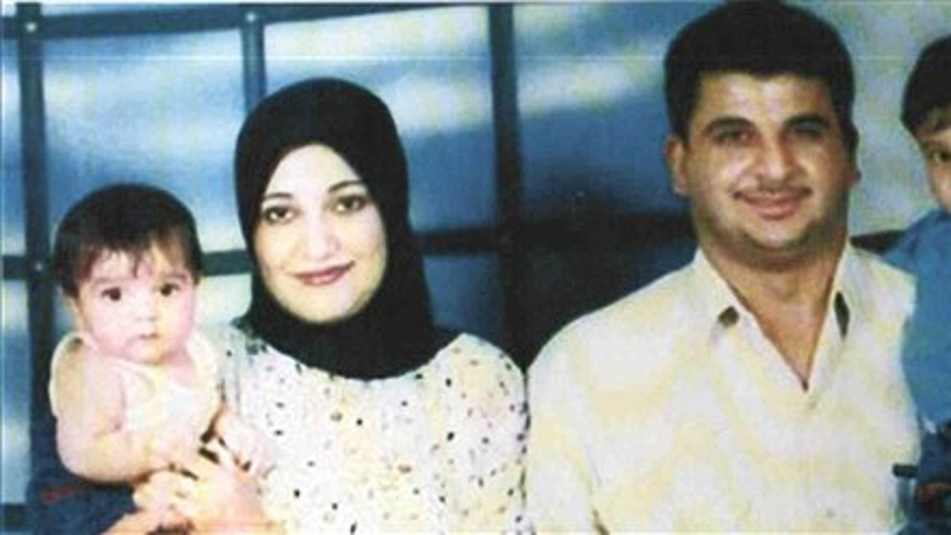 Undated handout photo made available by the Baha Mousa Public Inquiry shows Iraqi man  Baha Mousa and family.