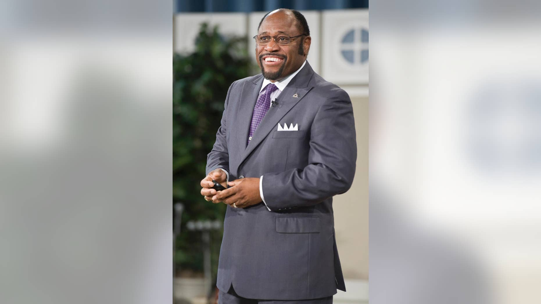In this Jan. 19, 2011 photo provided by Oral Roberts University, Rev. Myles Munroe preaches during an Oral Roberts University chapel service in Tulsa, Oklahoma. Severe weather was likely a factor in the small plane crash on Sunday, Nov. 9, 2014 that killed nine people, including the prominent Christian minister and his wife, on approach to the island of Grand Bahama, the Bahamas foreign minister said Monday. The flight was also carrying several members of Munroe's Bahamas Faith Ministries. (AP Photo/Oral Roberts University)