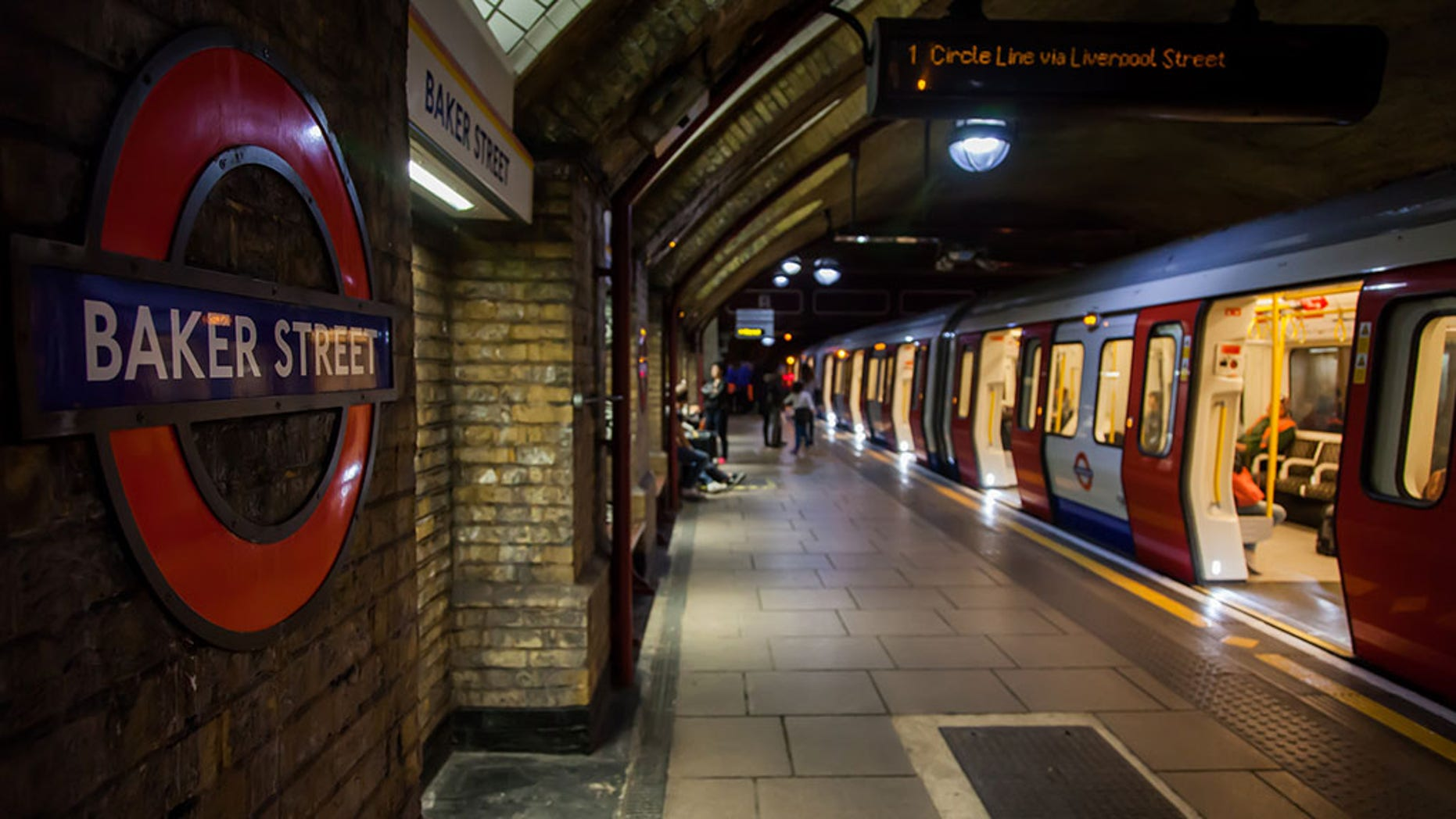 Baker Street underground station was evacuated Friday night after a woman with a stroller fell onto the tracks.