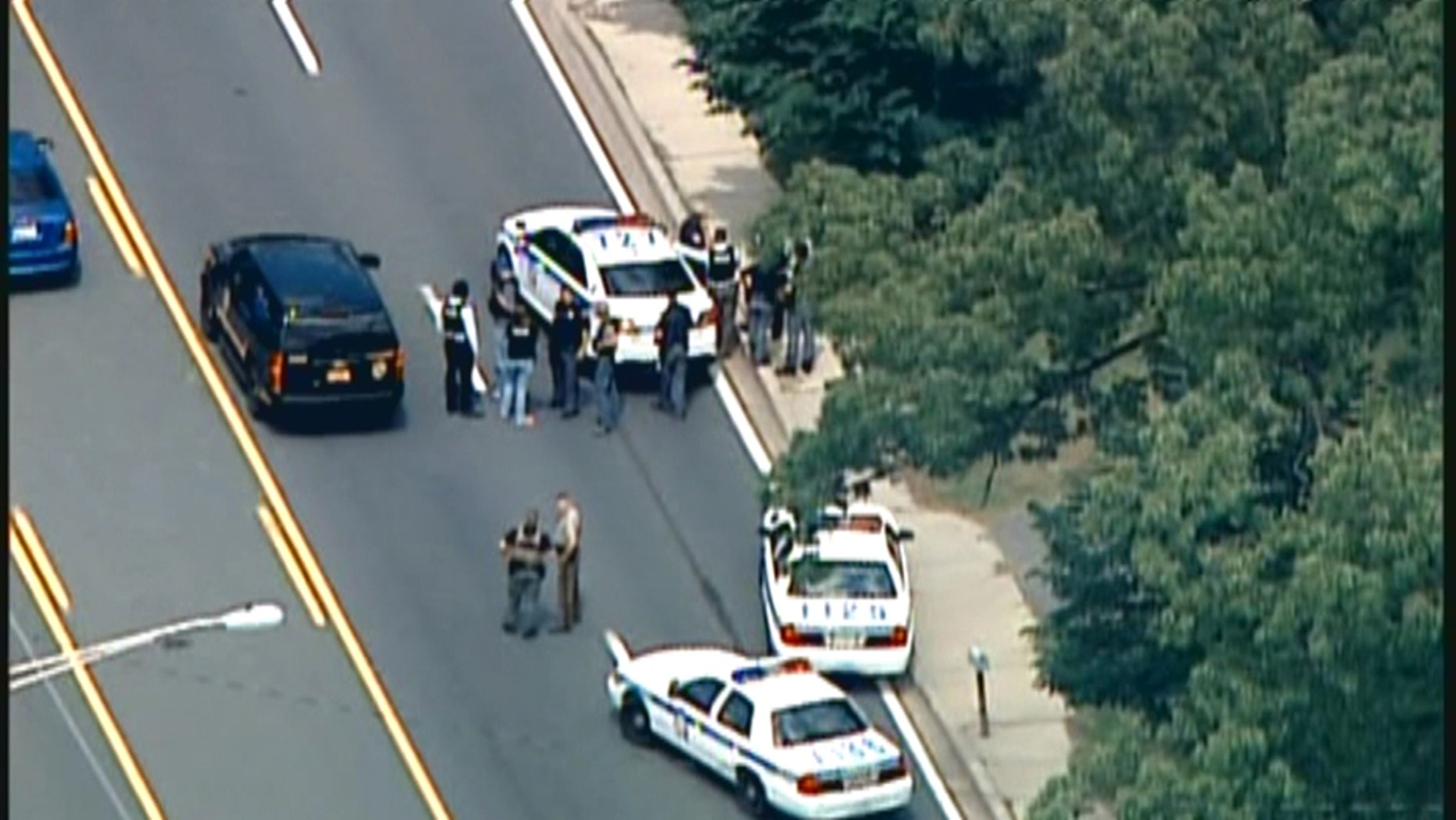A Baltimore County, Maryland police officer was killed Monday following an altercation with suspects still on the loose.